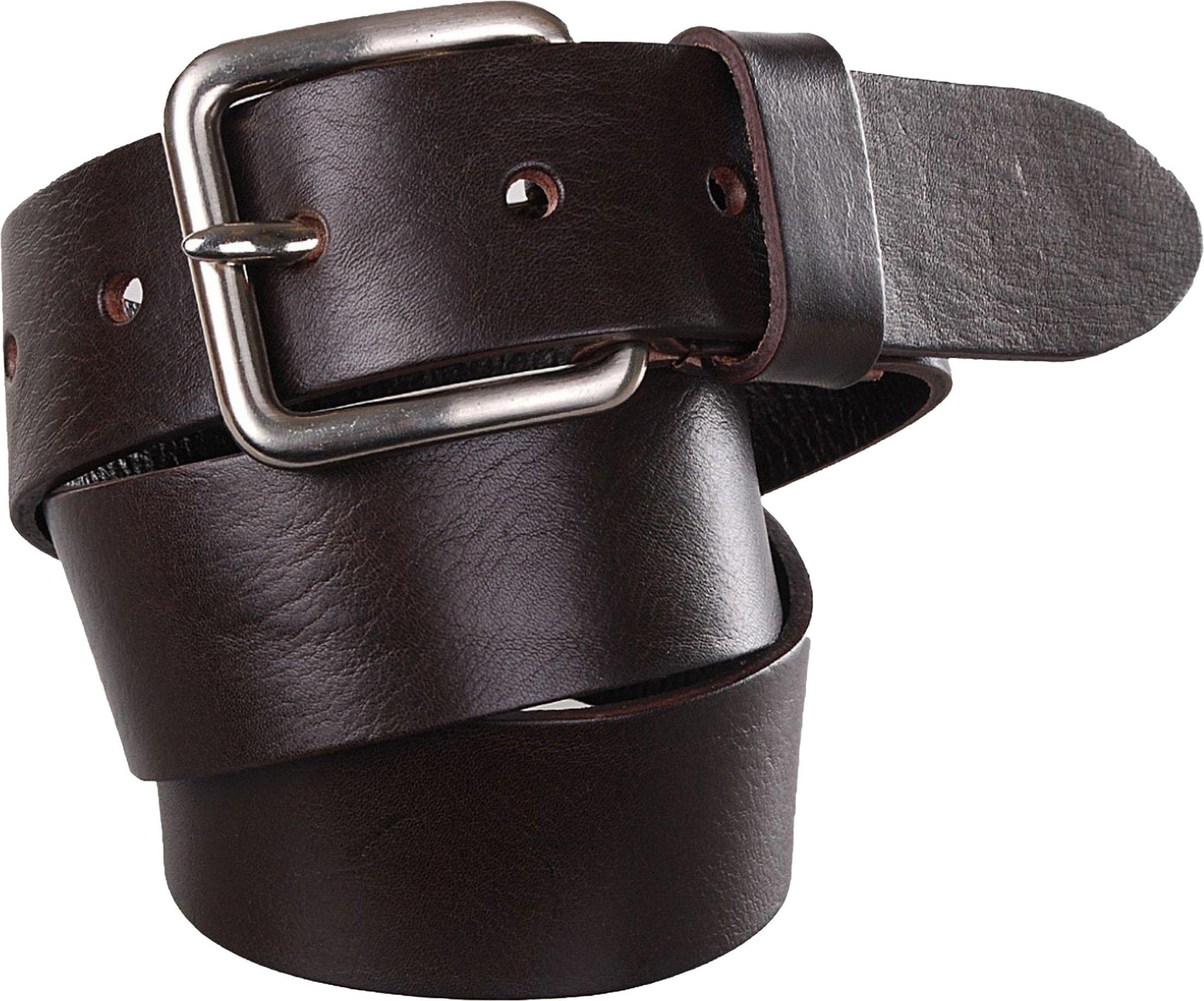 Belt Leather Jeans Dark Brown