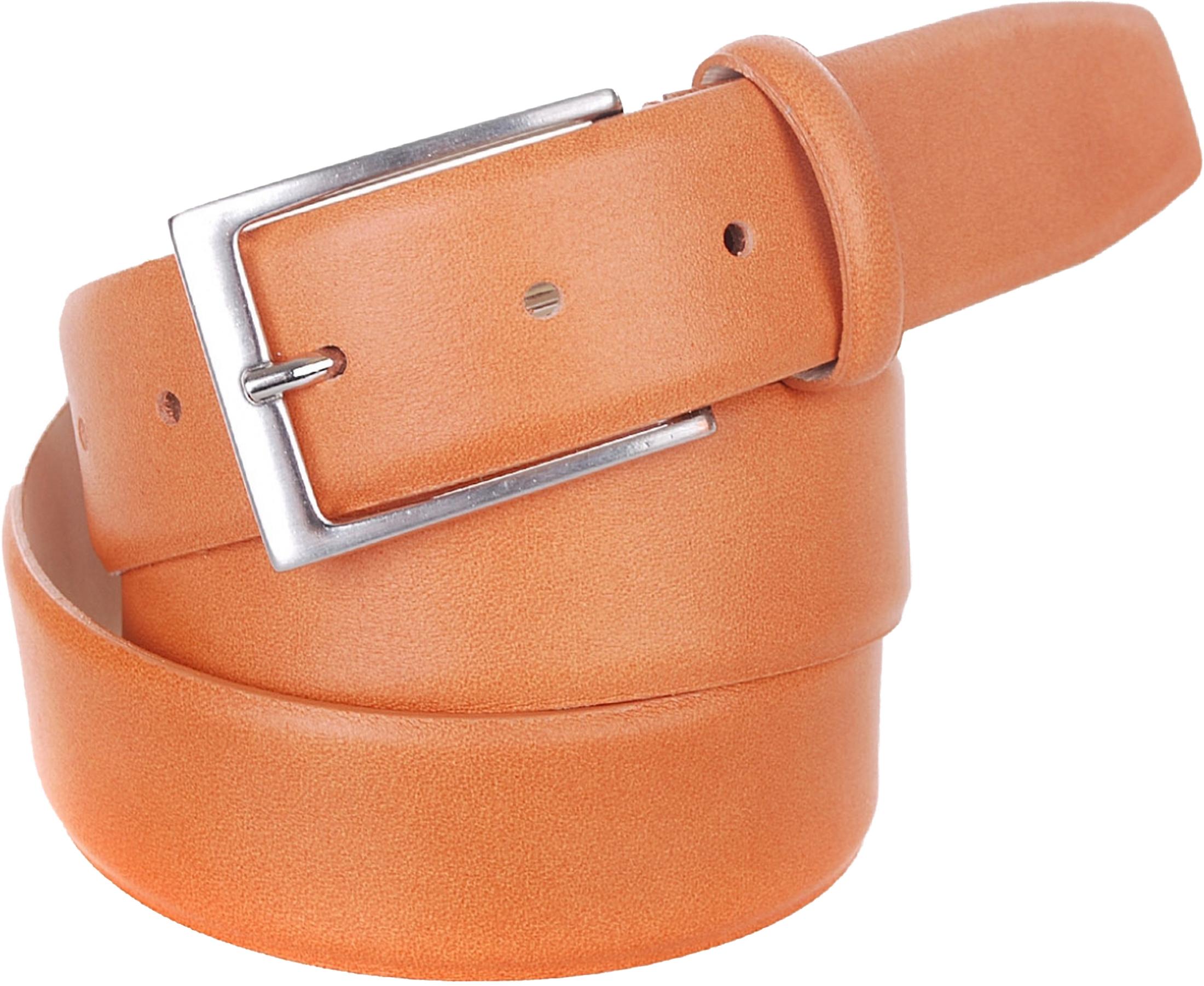 Belt Lether Brown Orange C65