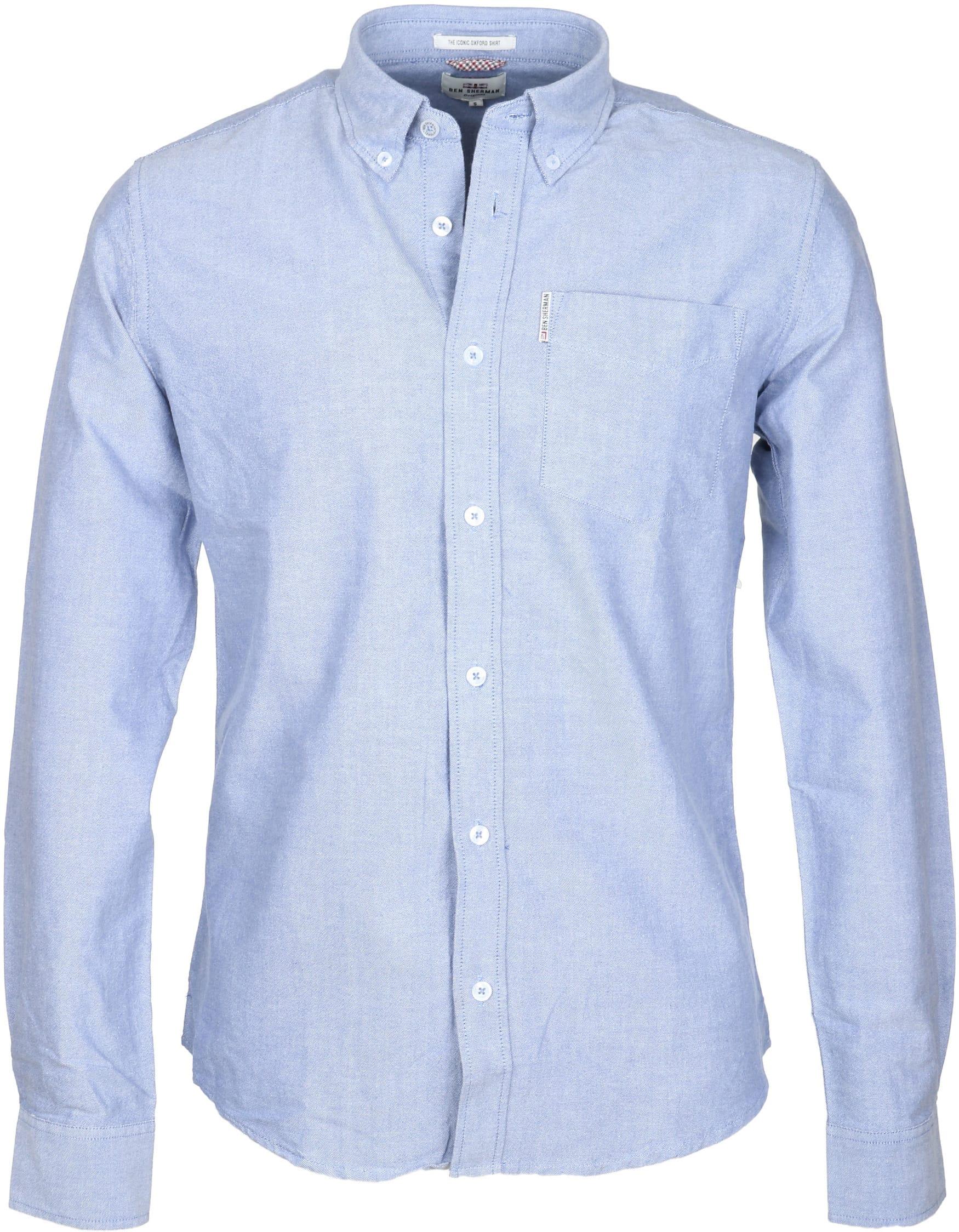 Ben Sherman Overhemd Blauw Oxford foto 0
