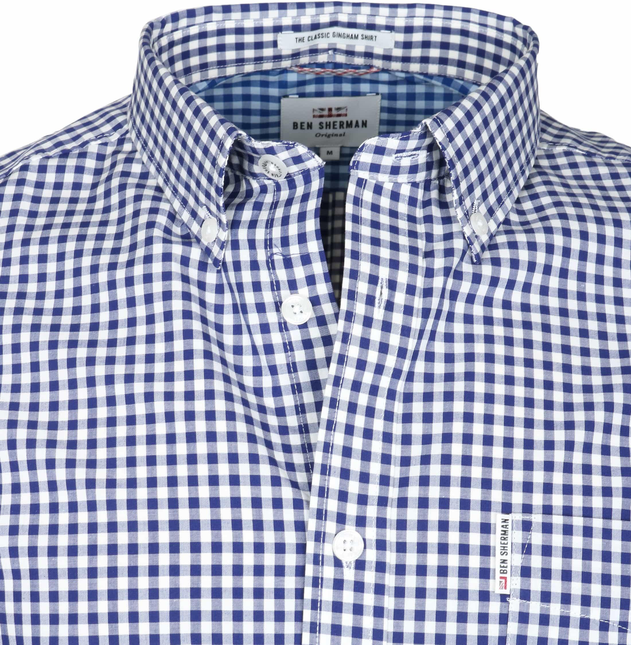 Ben Sherman Overhemd Ruit Donkerblauw foto 2