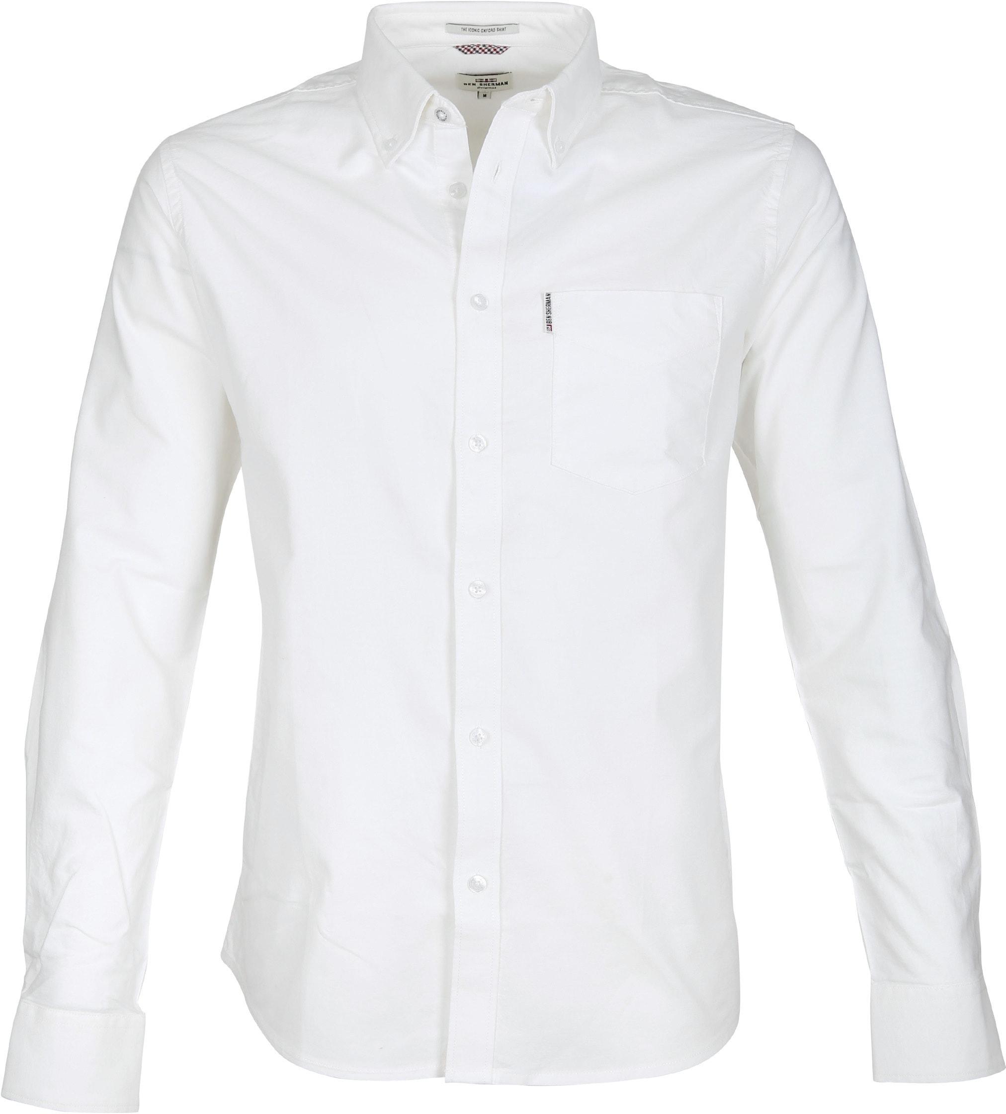 Ben Sherman Shirt Oxford White 0047927 010 Order Online Suitable