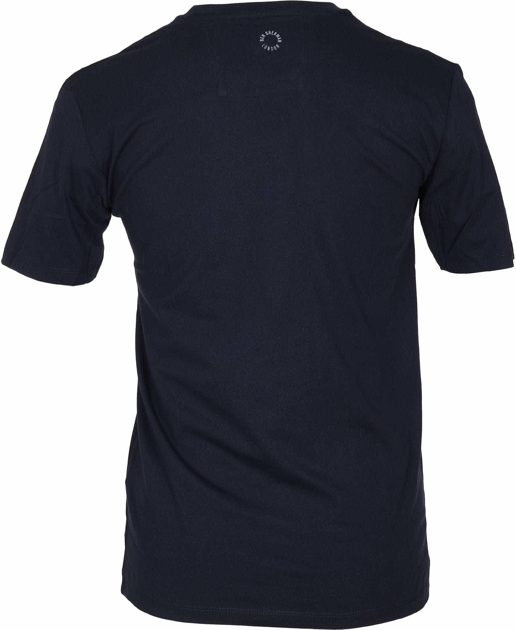 Ben Sherman T-Shirt Logo Dunkelblau foto 2