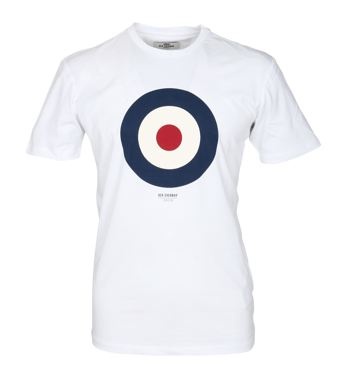 Ben Sherman T-Shirt Print Weiß foto 0