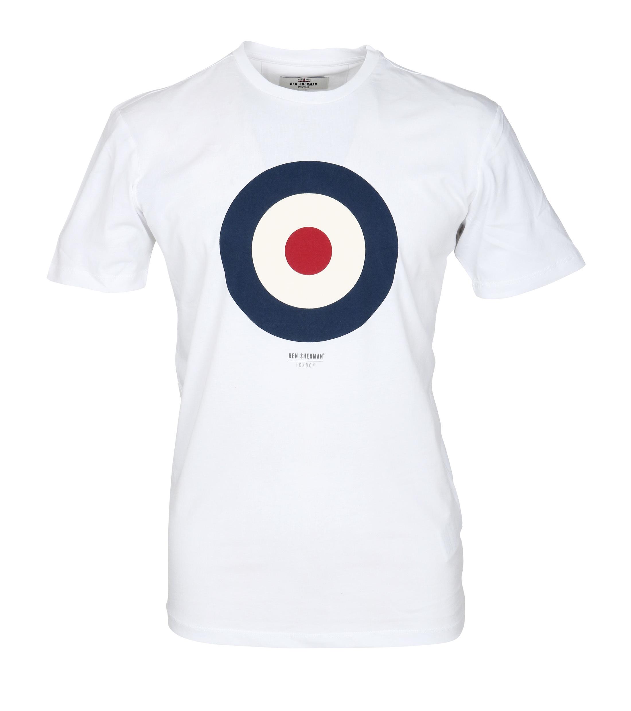 Ben Sherman T-Shirt Print Wit foto 0
