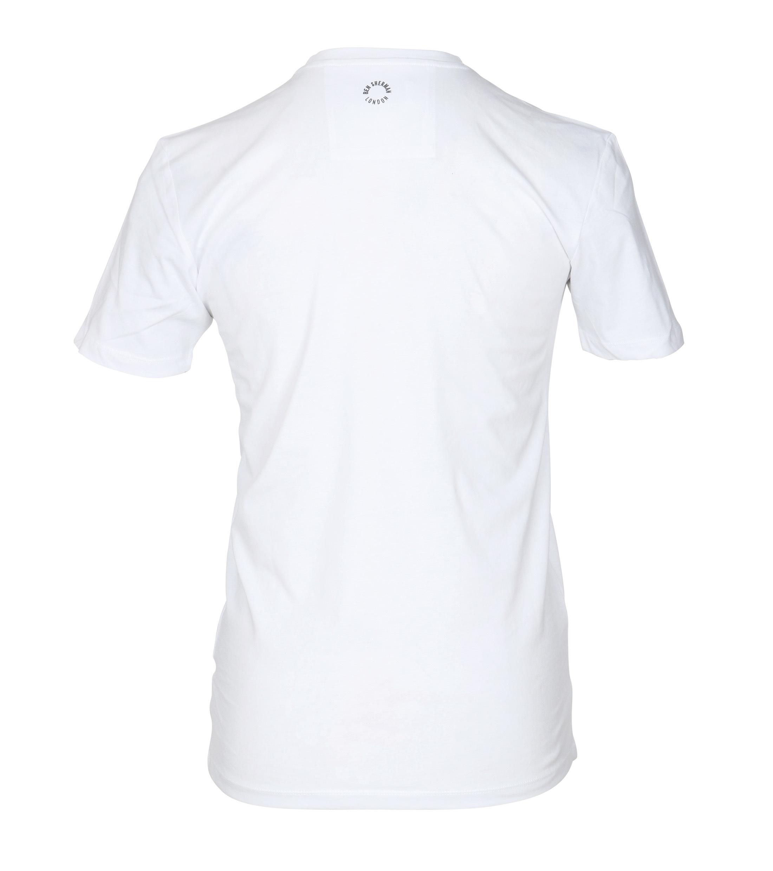 Ben Sherman T-Shirt Print Wit foto 2