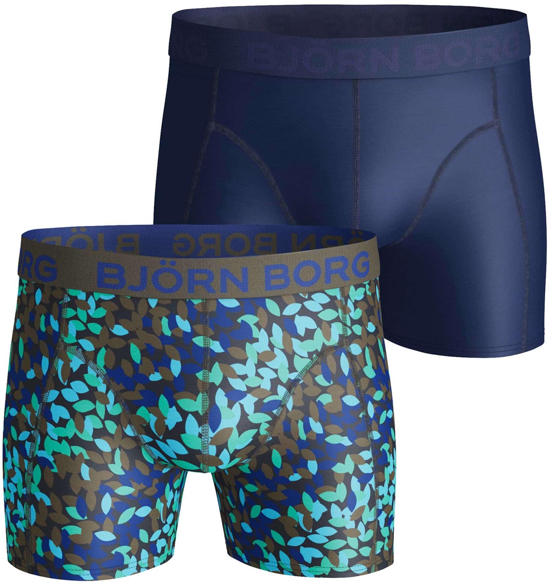 Bjorn Borg Boxers 2-Pack Blauw en Print foto 0