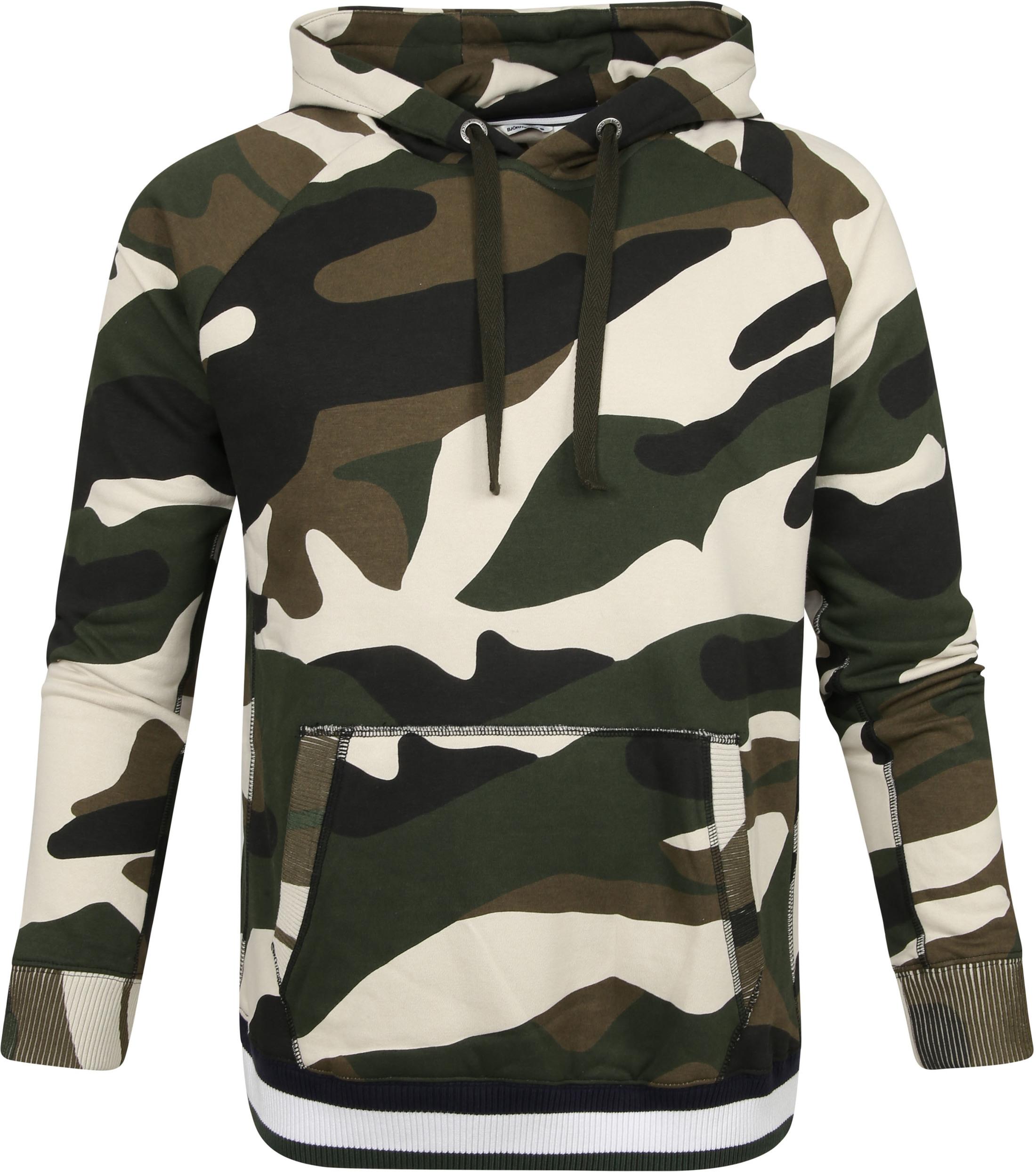 Bjorn Borg Sport Hoodie Camouflage - Beige maat S