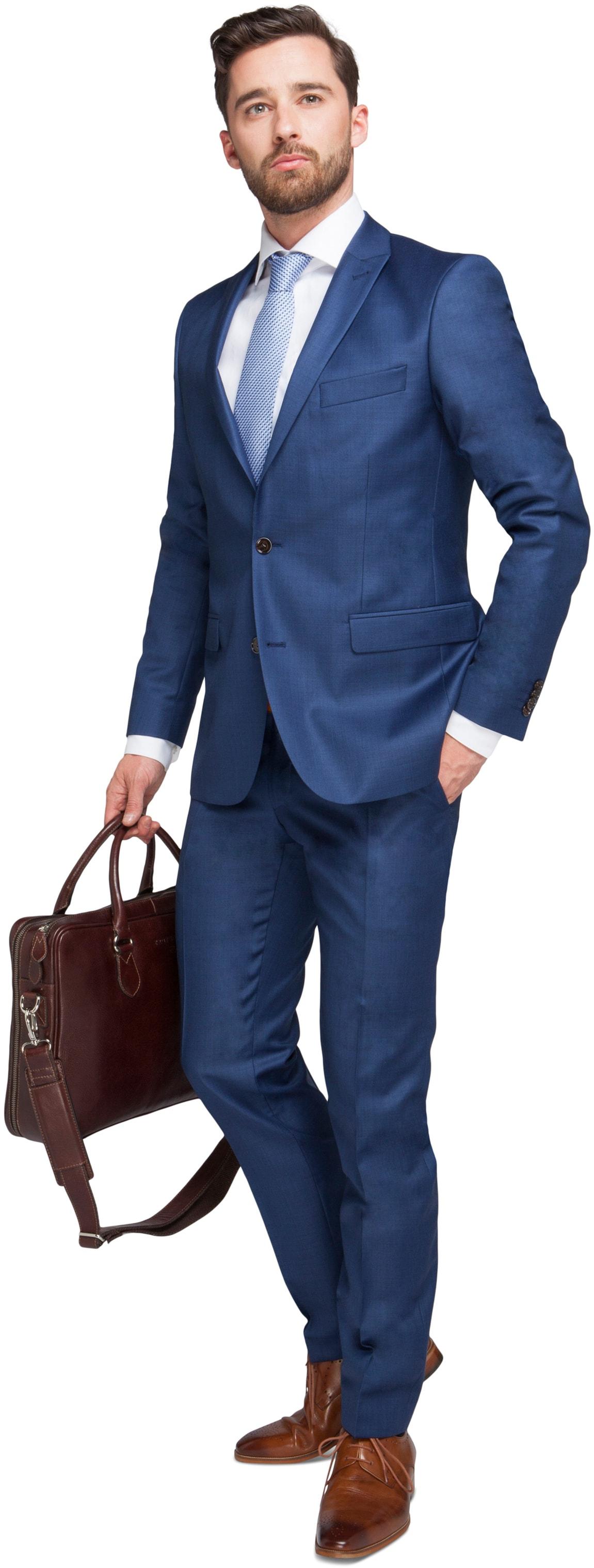 Blauw Kostuum Evans foto 0