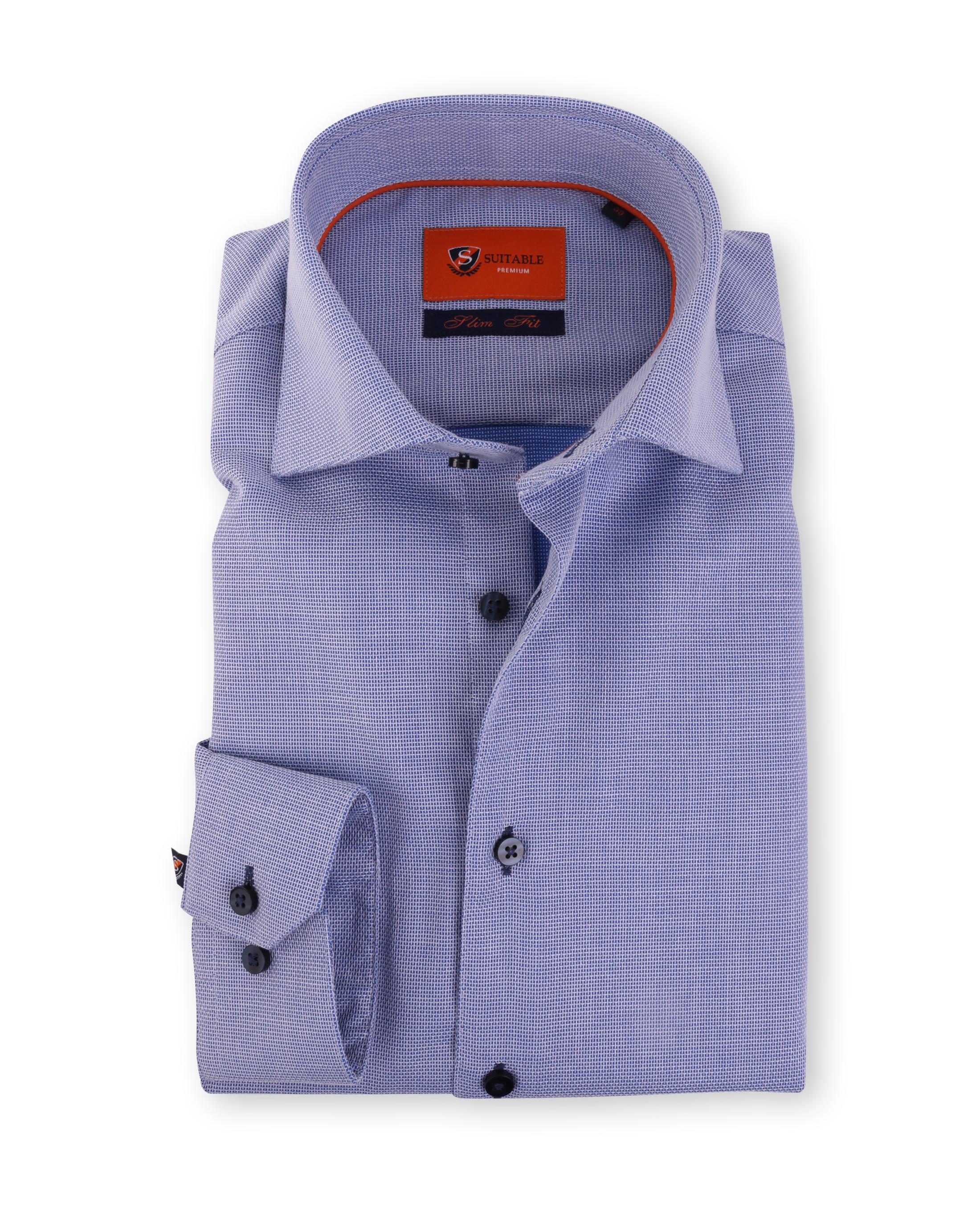Blauw Overhemd Widespread 52-17 foto 0