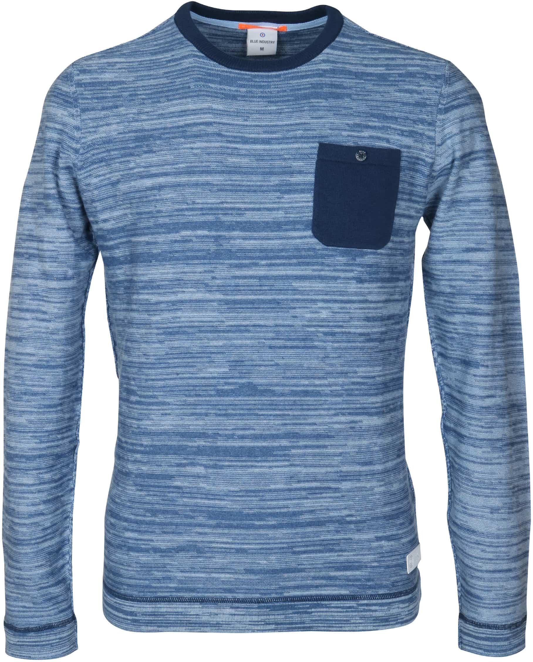 Blue Industry Blau Pullover foto 0