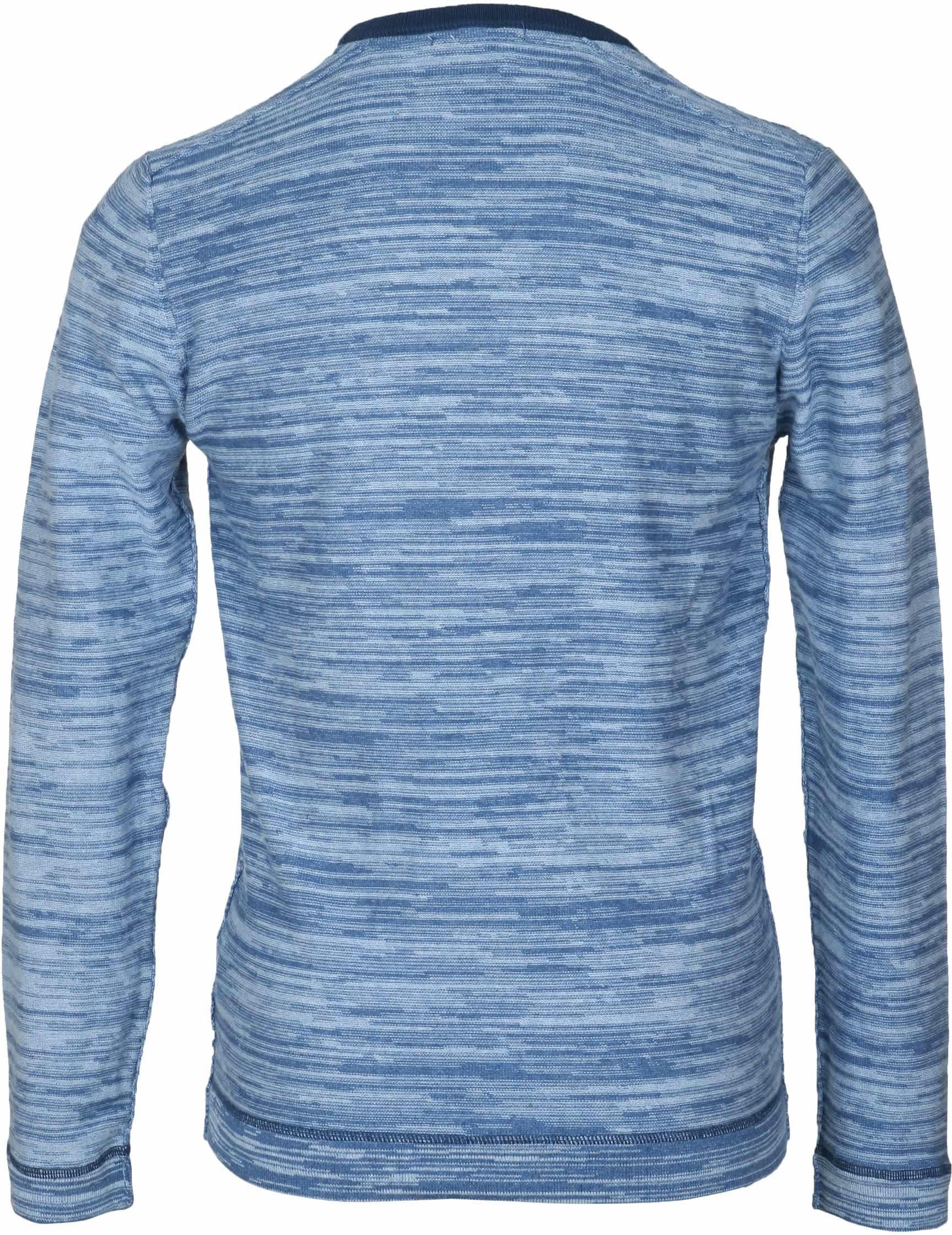 Blue Industry Blau Pullover foto 4