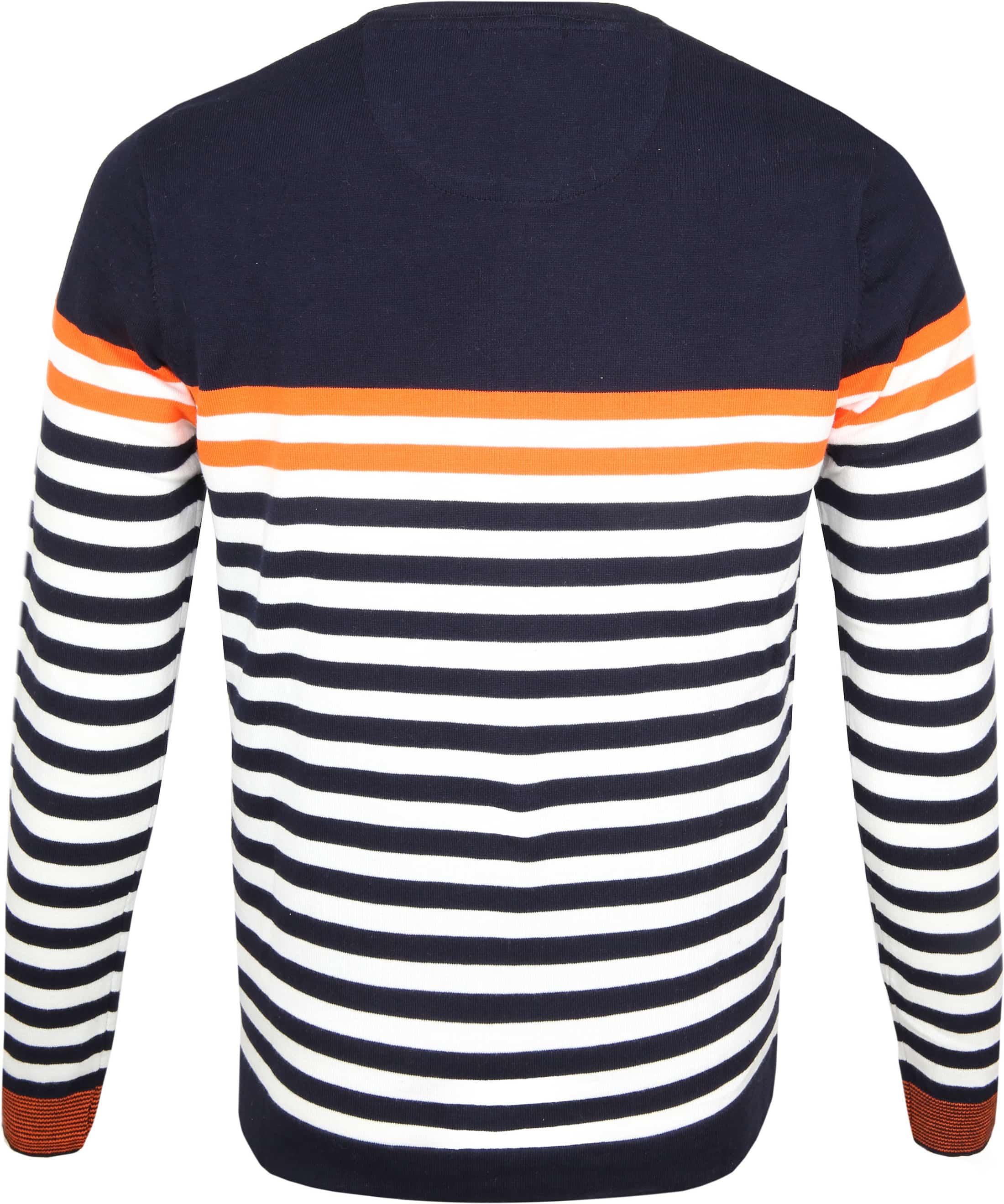 Blue Industry Knit Sweater Strepen foto 2