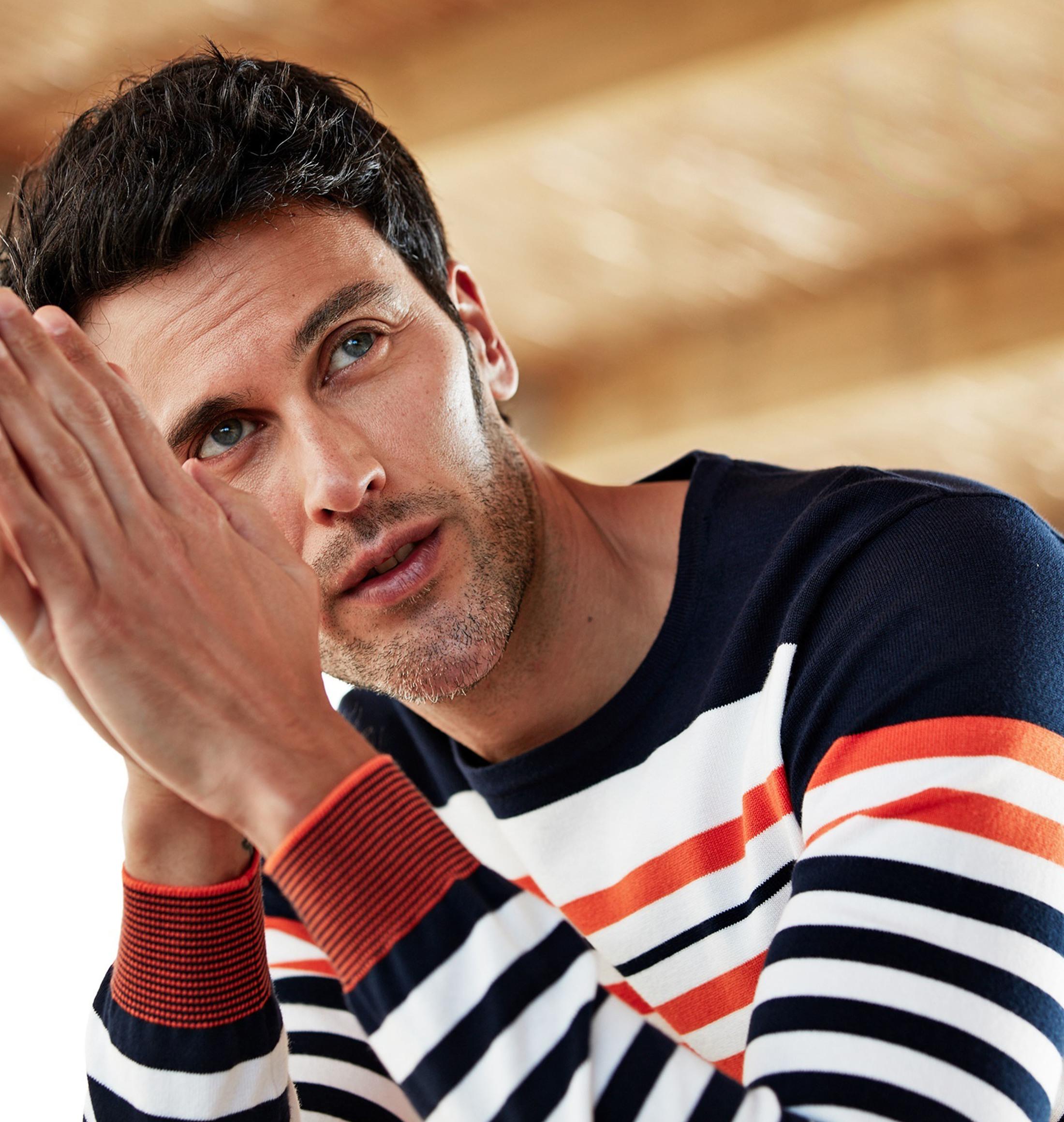 Blue Industry Knit Sweater Strepen foto 3