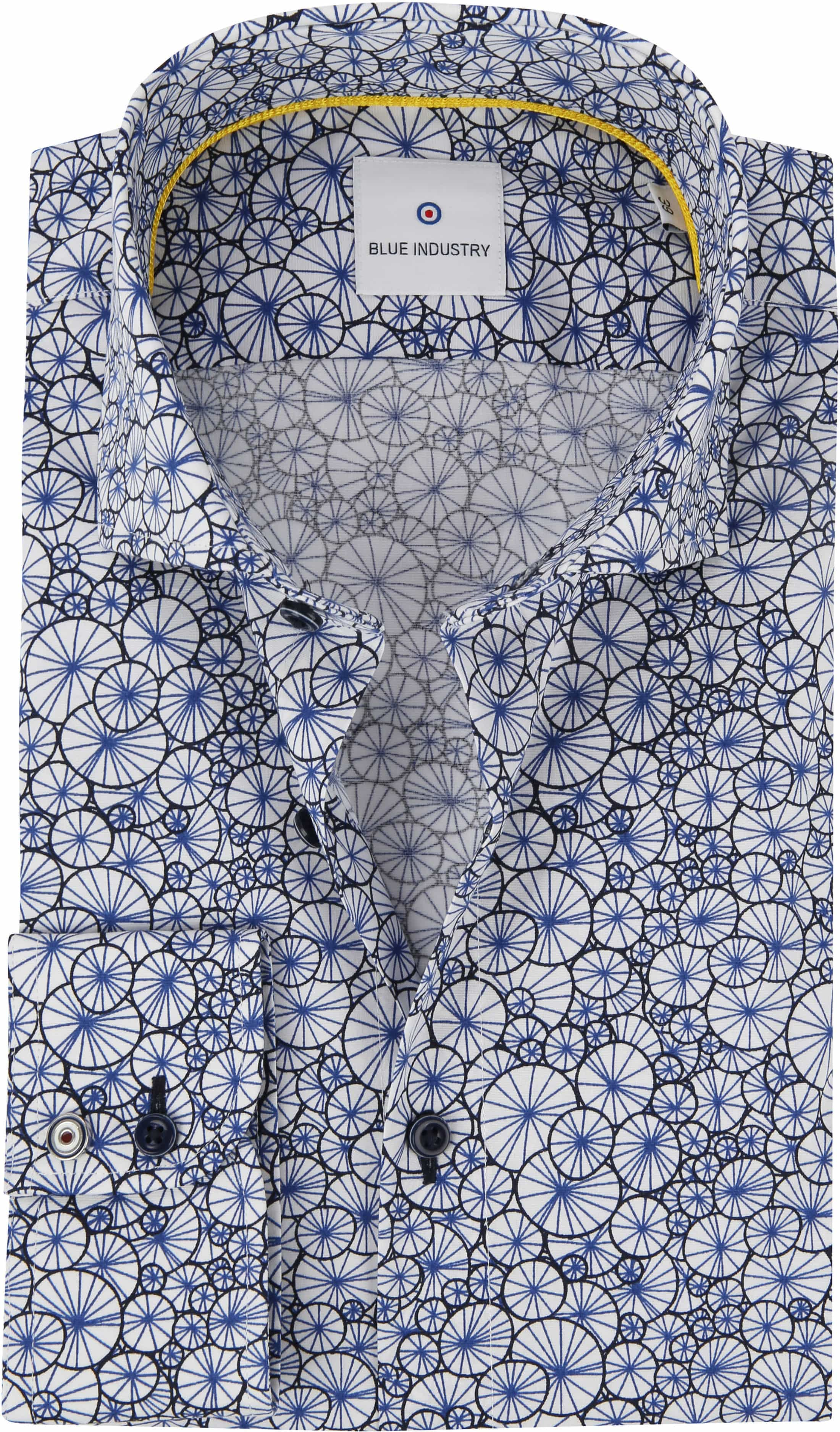 Blue Industry Overhemd Blauw Dessin foto 0