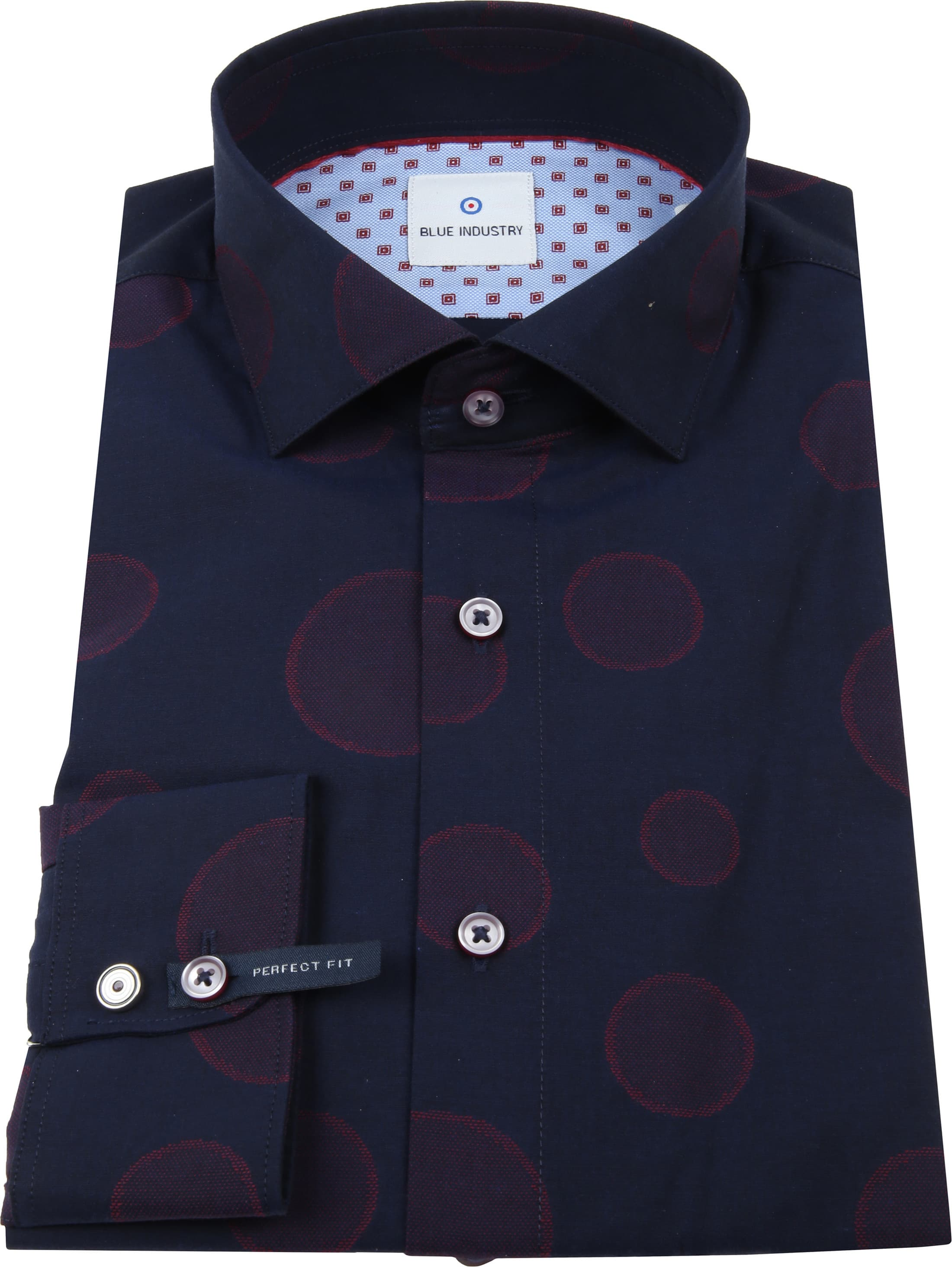 Blue Industry Overhemd Dots Navy