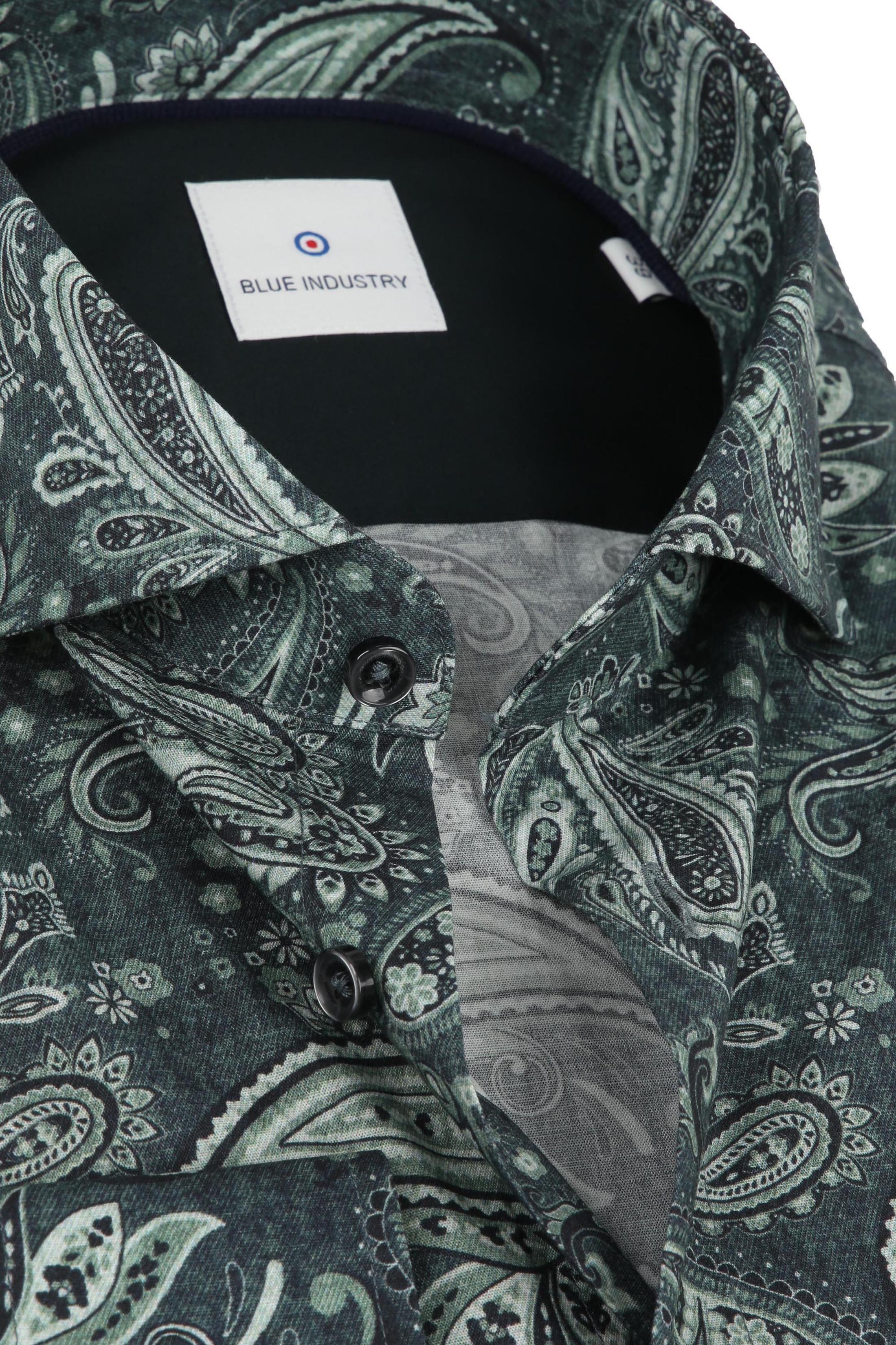 Blue Industry Overhemd Paisley Groen