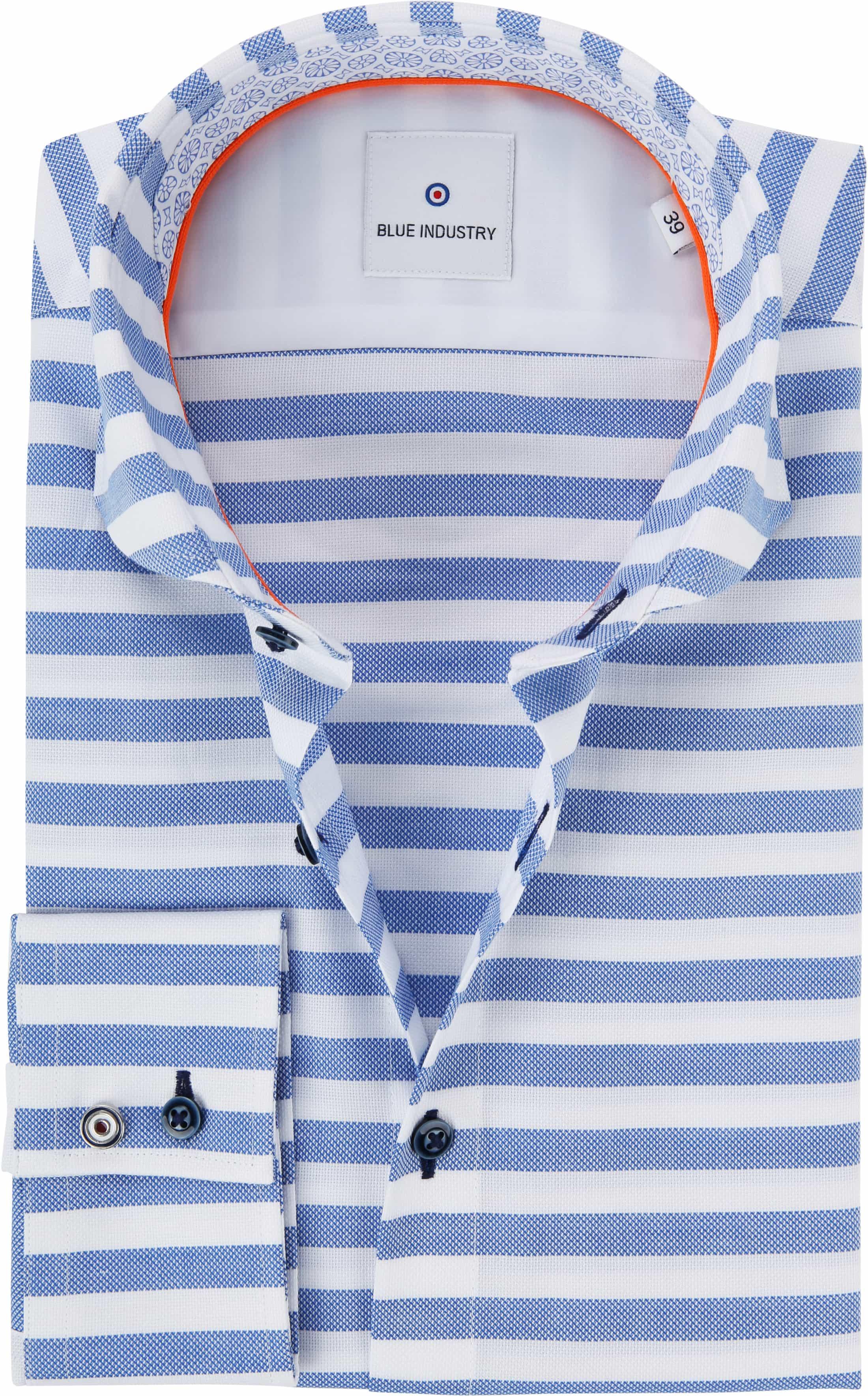 Blue Industry Overhemd Strepen foto 0