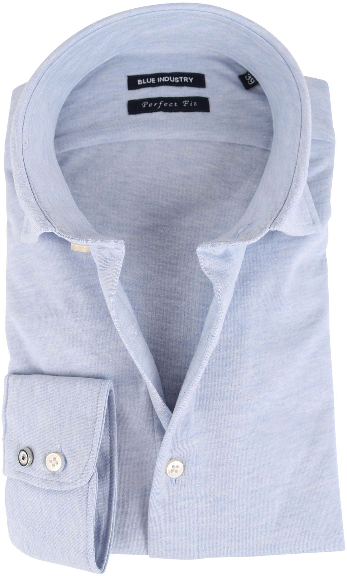 Blue Industry Overhemd Stretch Blauw foto 0