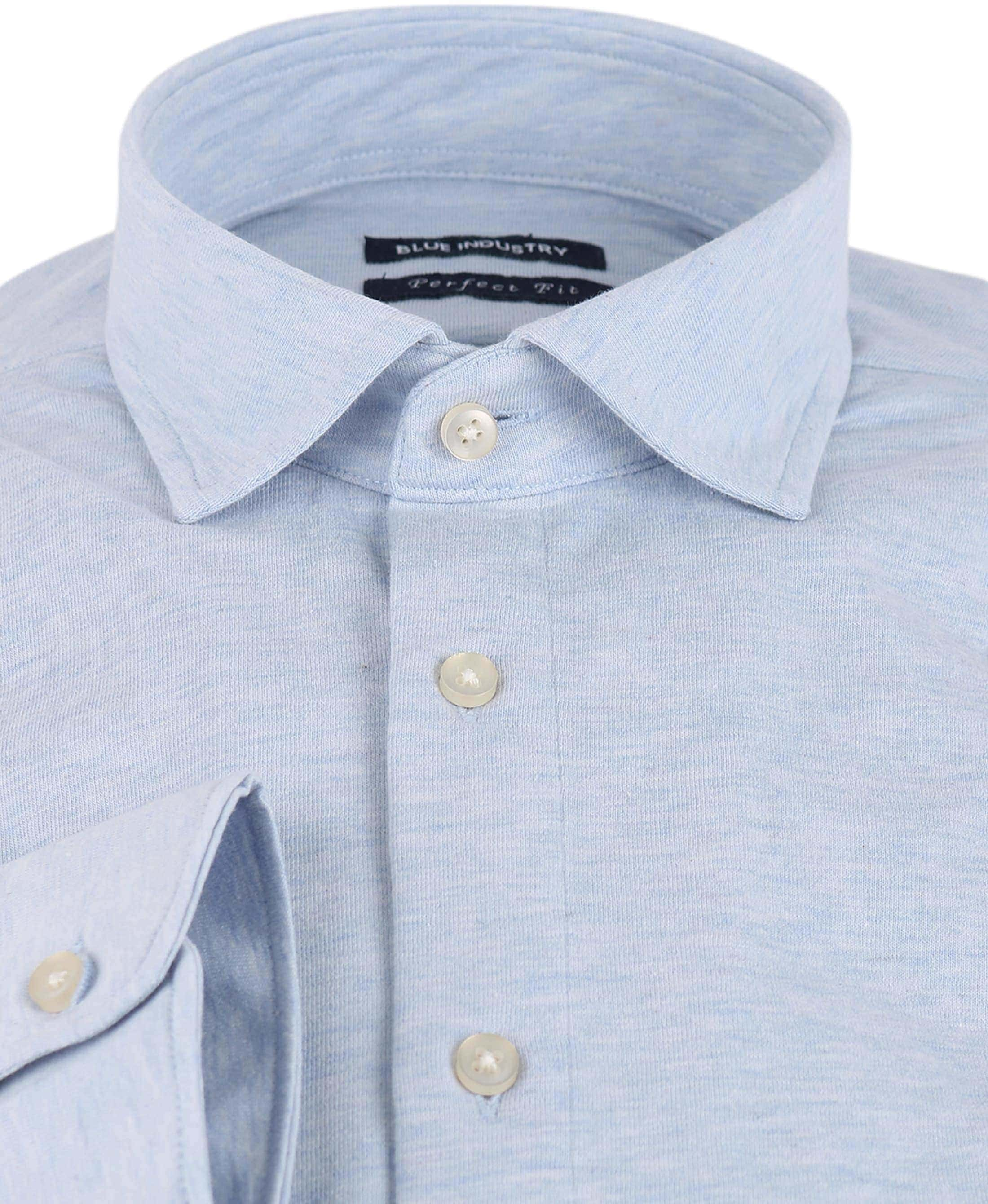 Blue Industry Overhemd Stretch Blauw foto 1