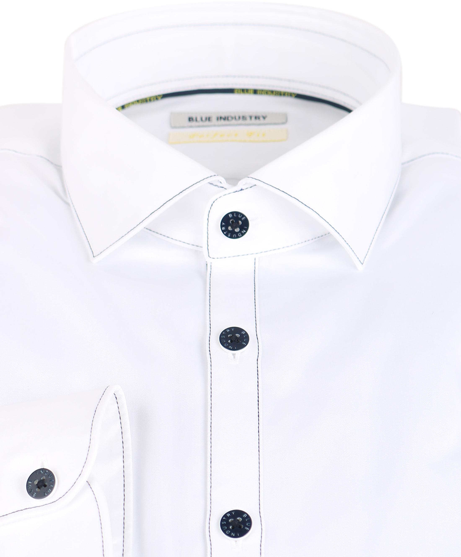 Blue Industry Overhemd Wit Stiksels foto 1