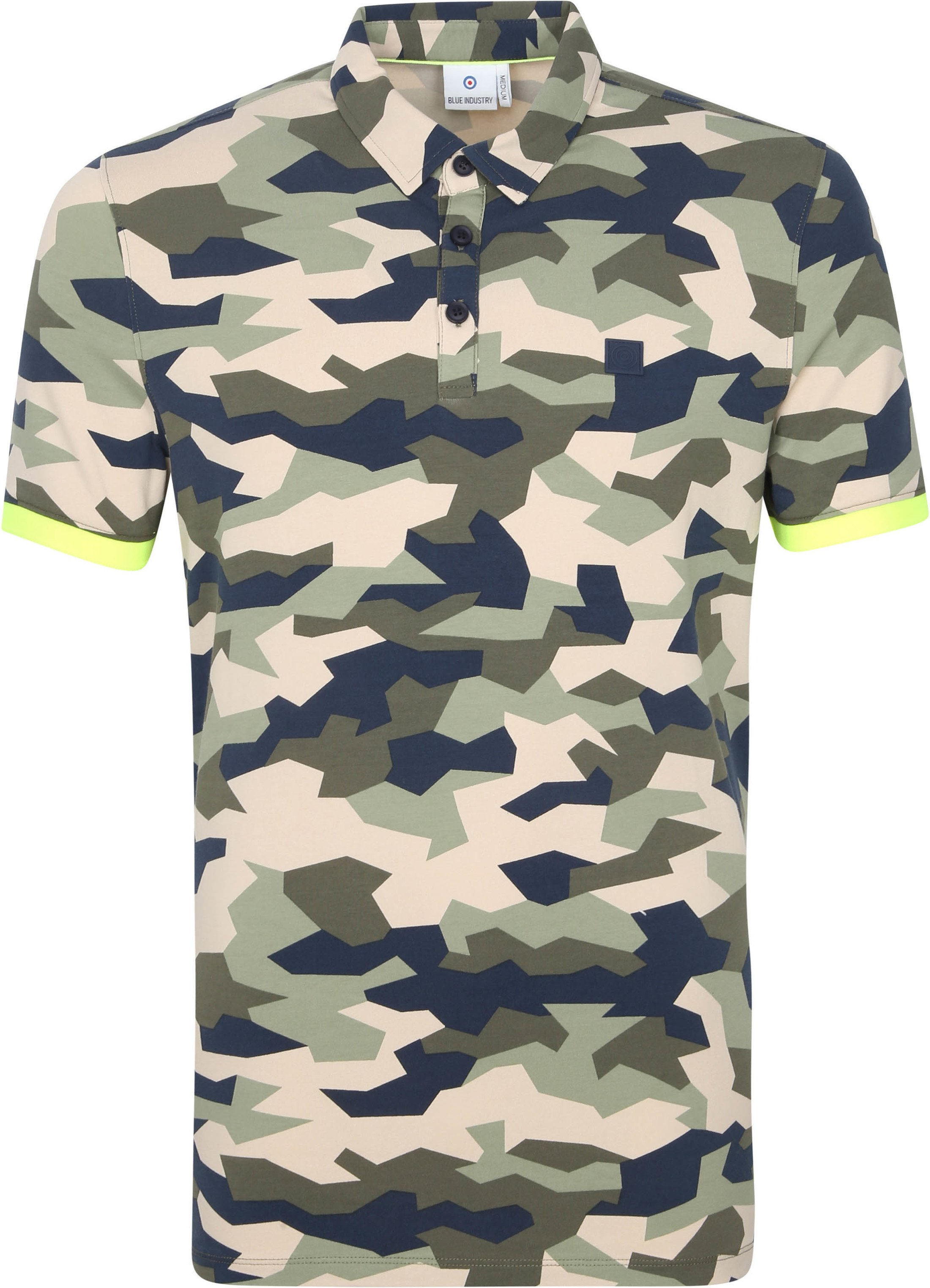 Blue Industry Polo Army Multicolour