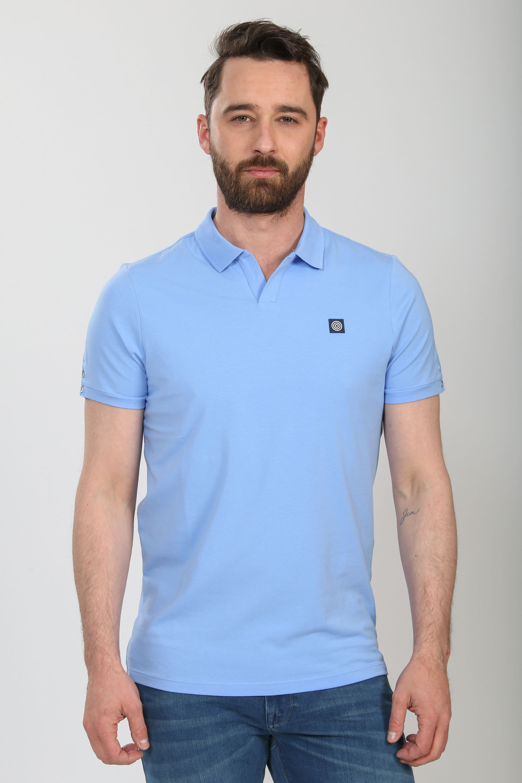 Blue Industry Polo Stretch Lichtblauw