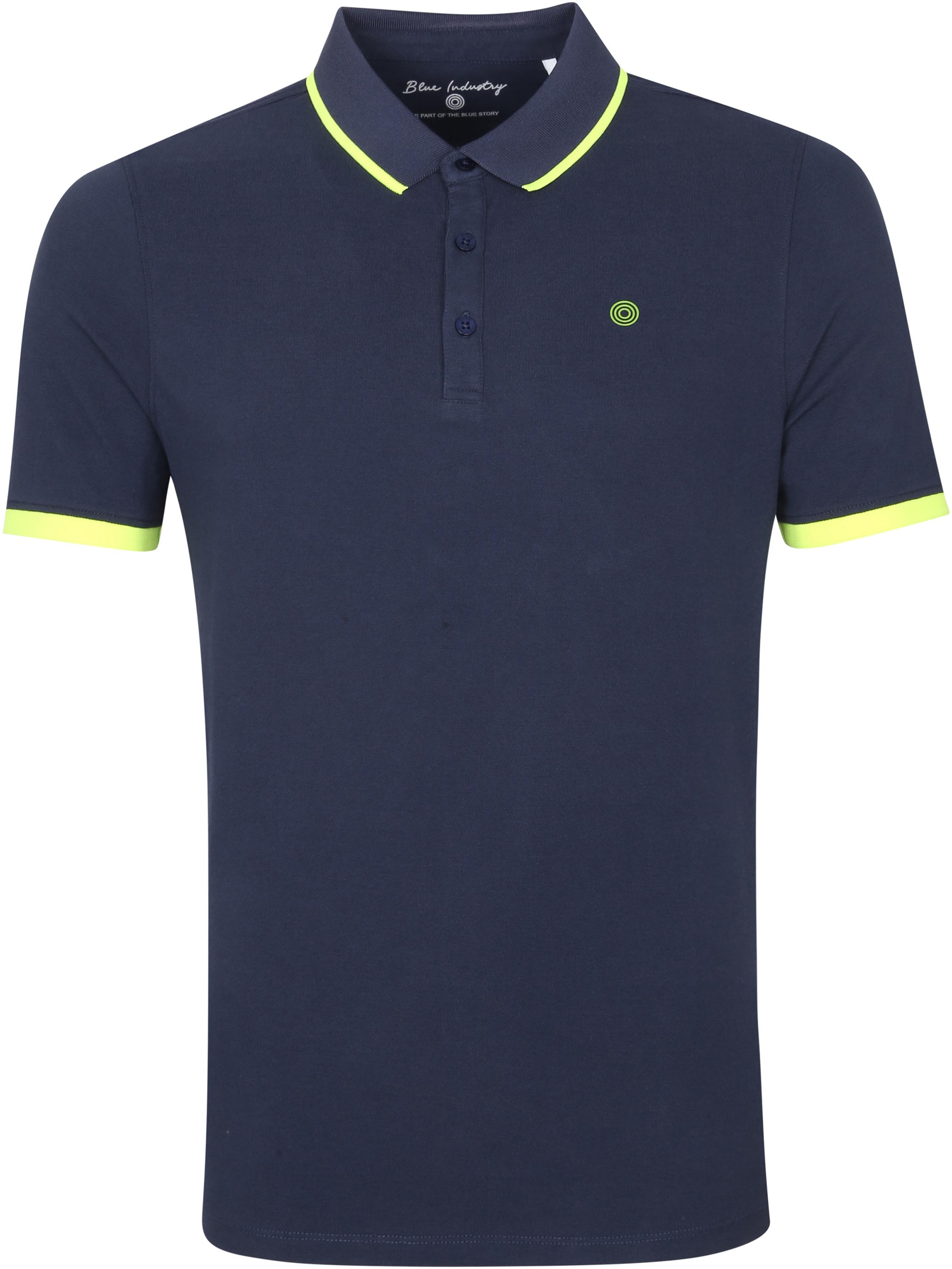 Blue Industry Polo Stretch M47 Donkerblauw