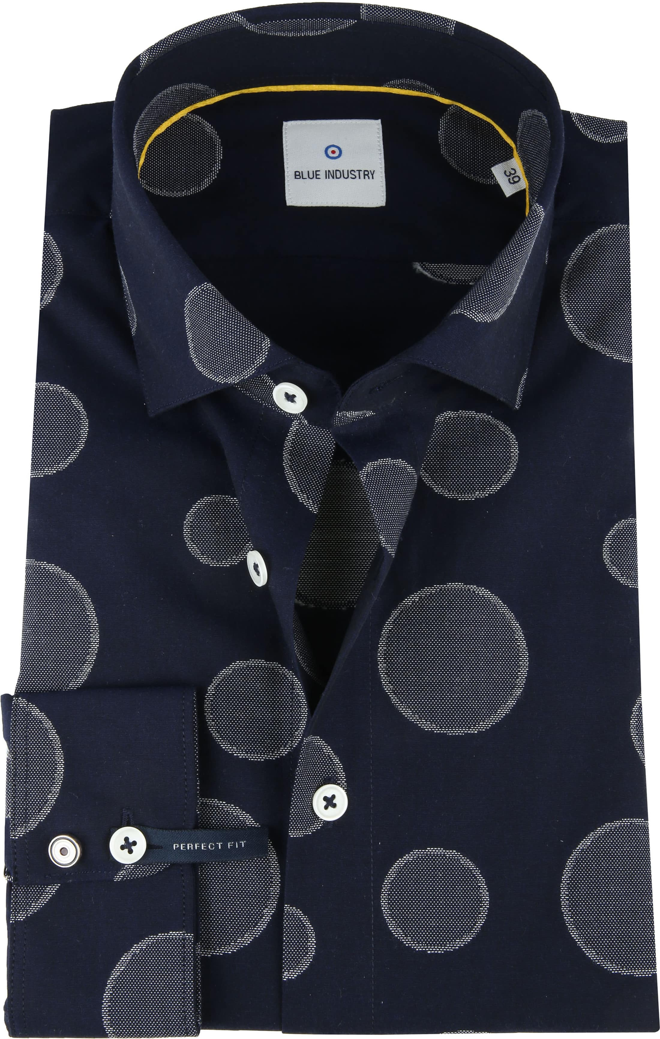 Blue Industry Shirt Big Dots foto 0