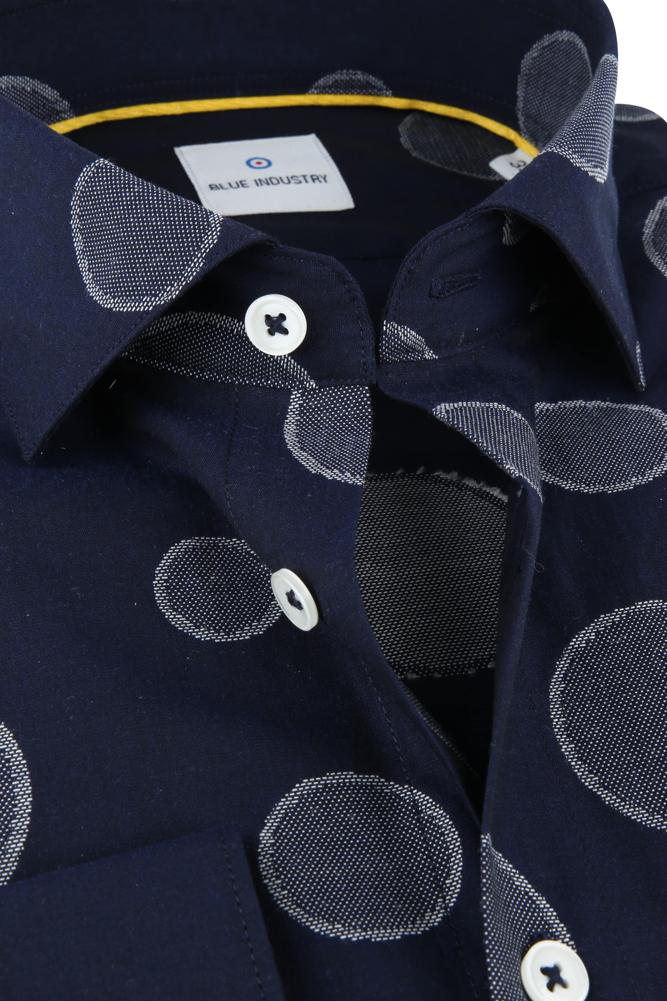 Blue Industry Shirt Big Dots foto 1