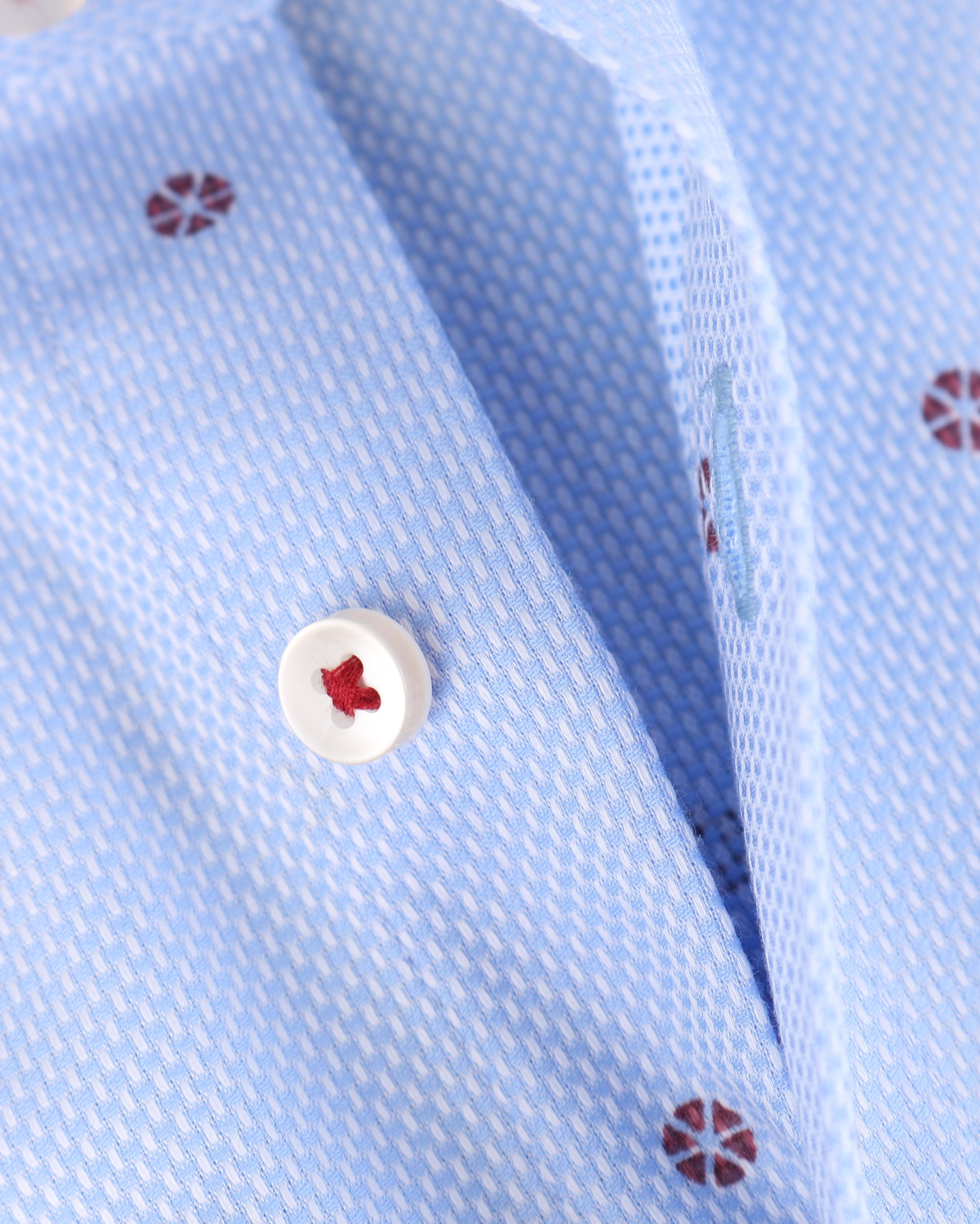 Blue Industry Shirt Blauw met Rode Print foto 3