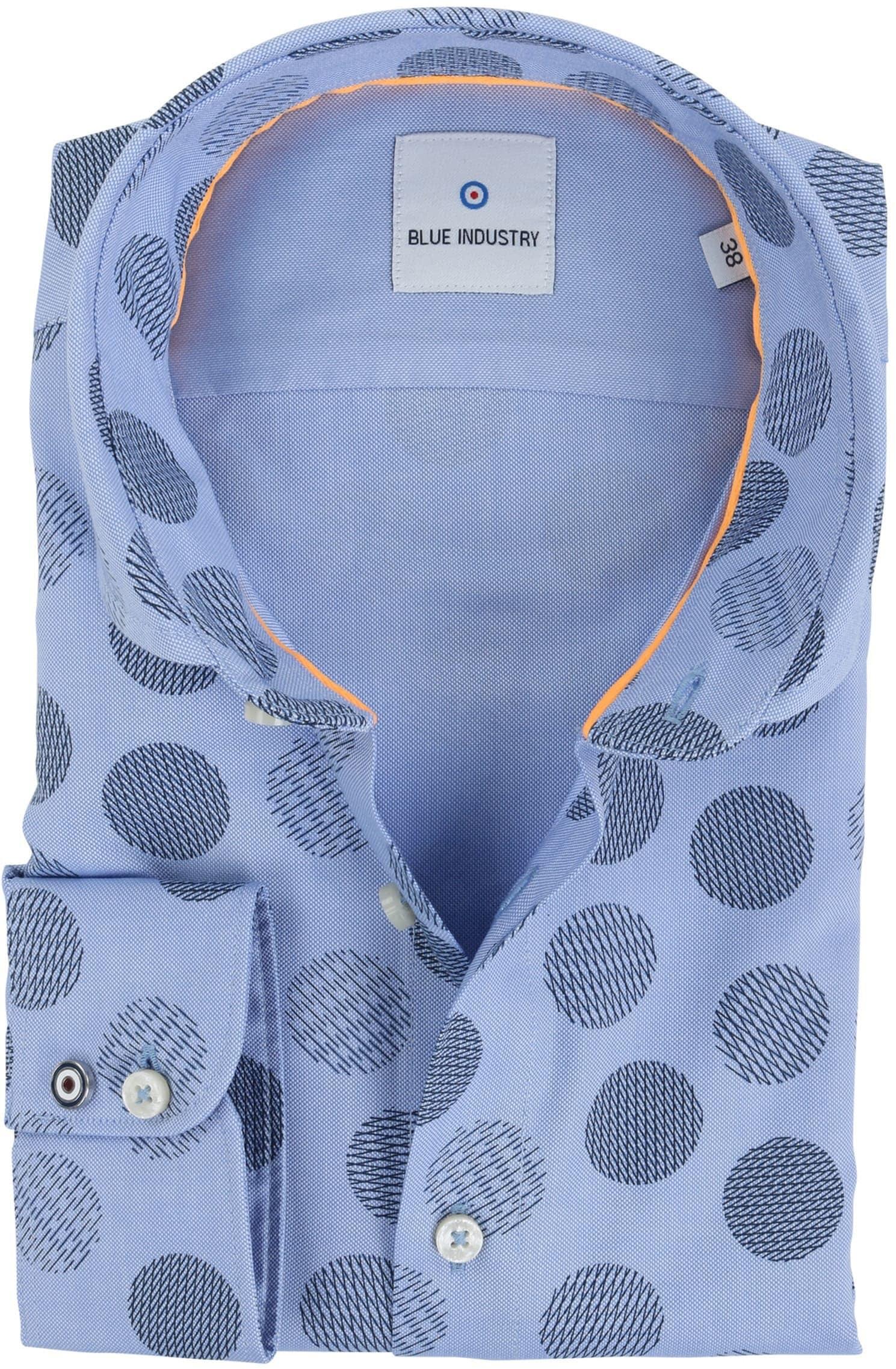 Blue Industry Shirt Blauw Stip foto 0