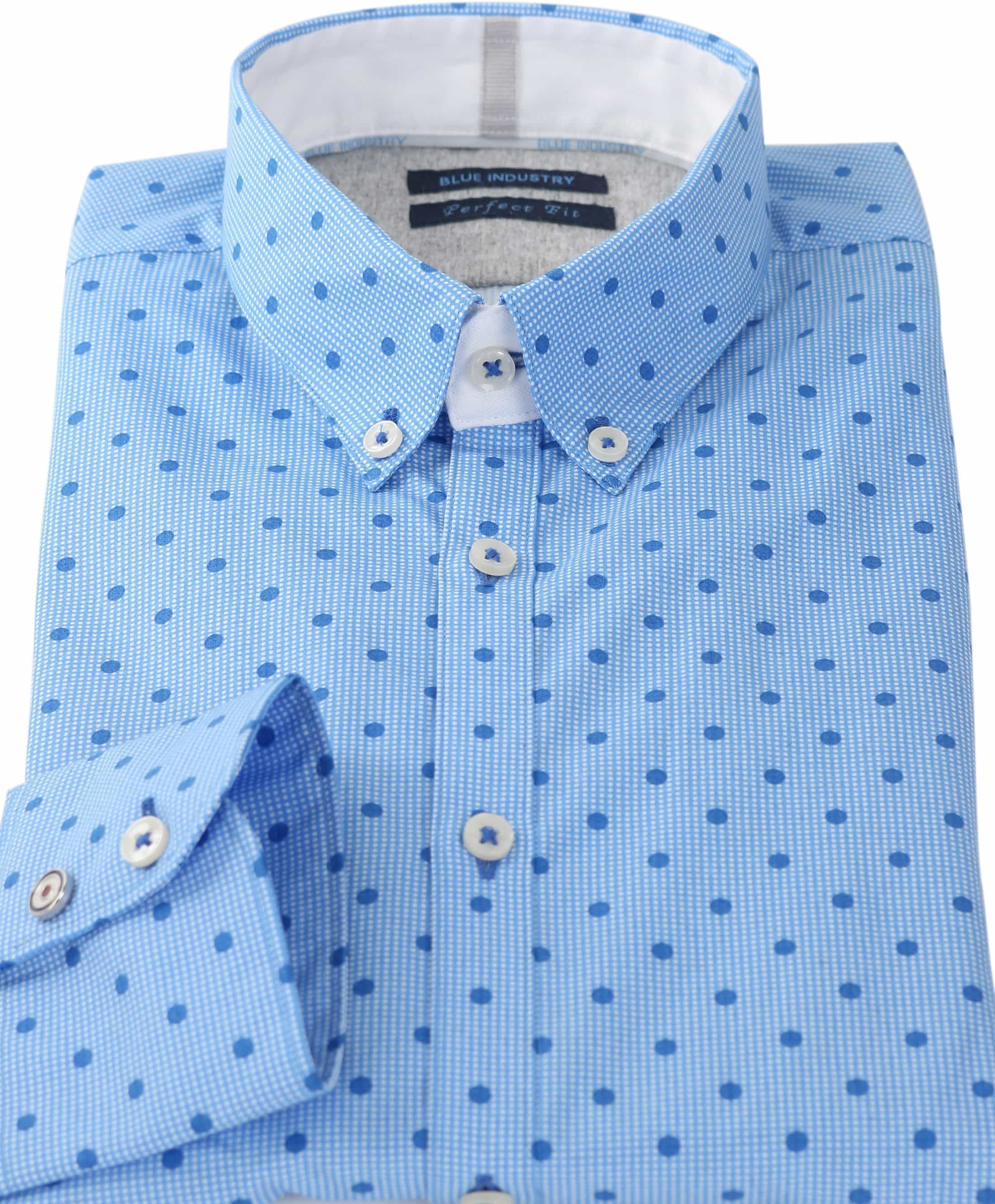 Blue Industry Shirt Blauwe Print foto 1