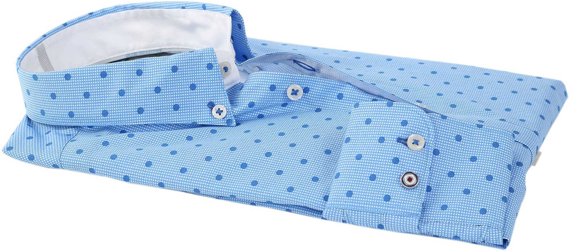 Blue Industry Shirt Blauwe Print foto 2