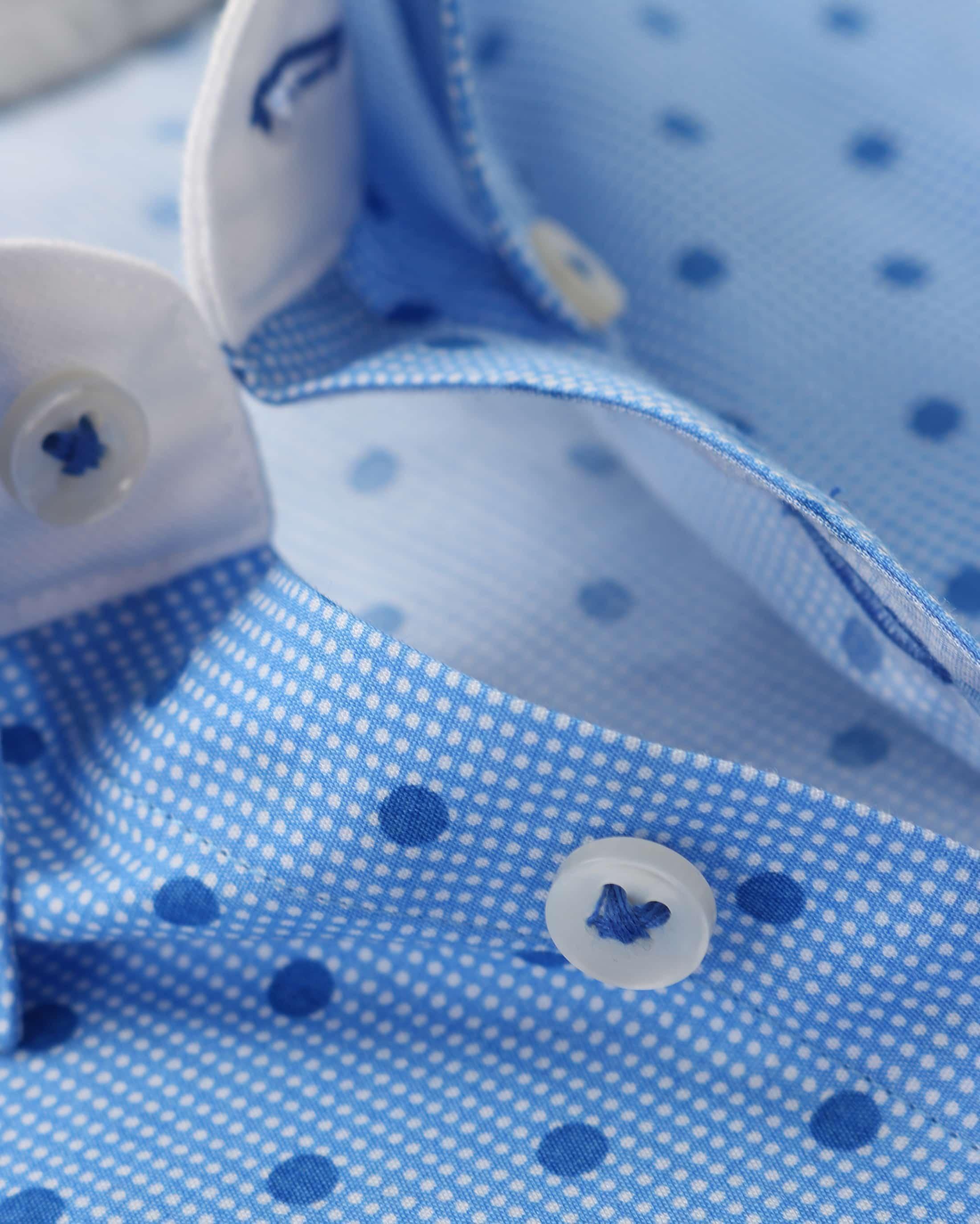 Blue Industry Shirt Blauwe Print foto 3