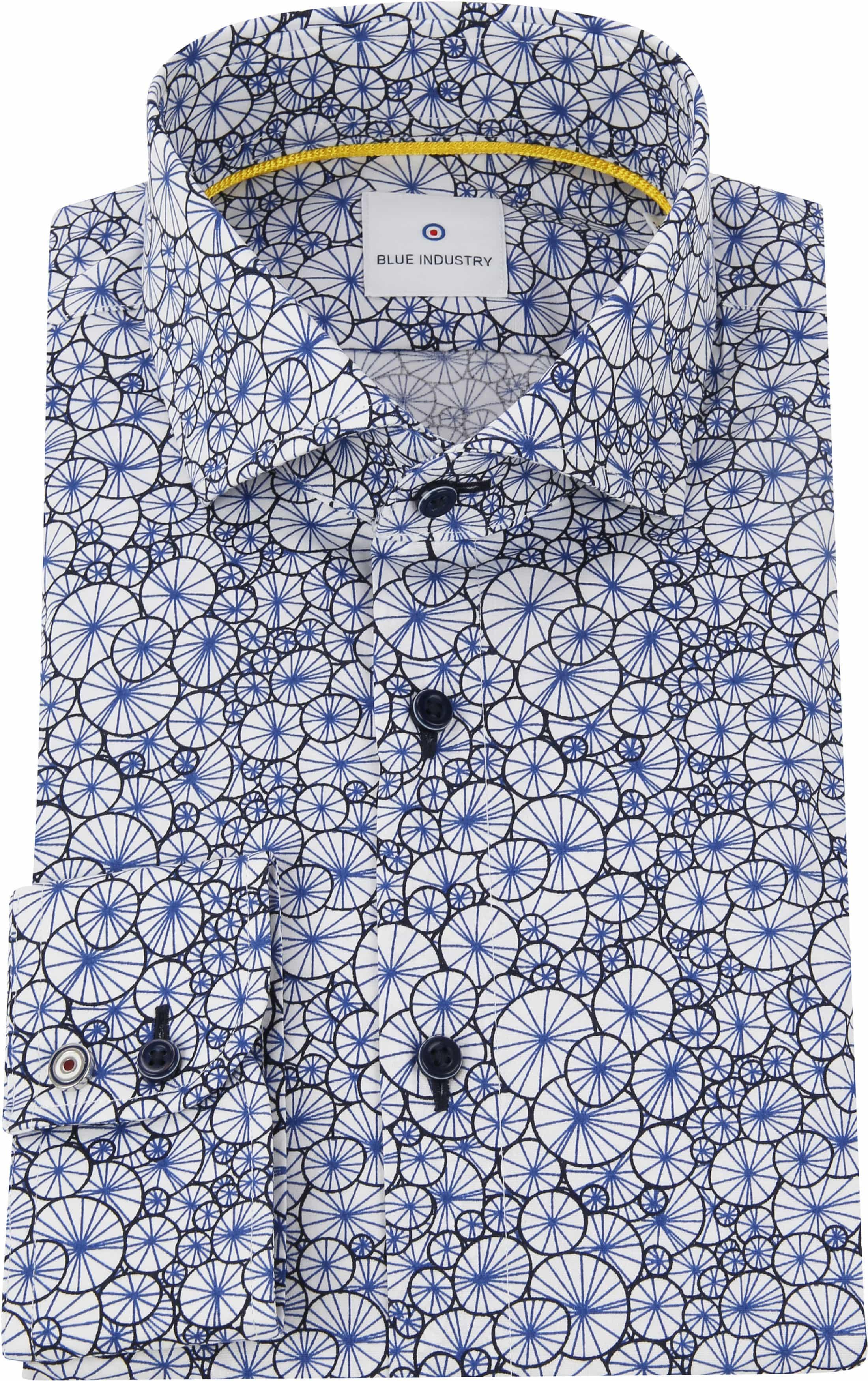 Blue Industry Shirt Blue Dessin foto 2