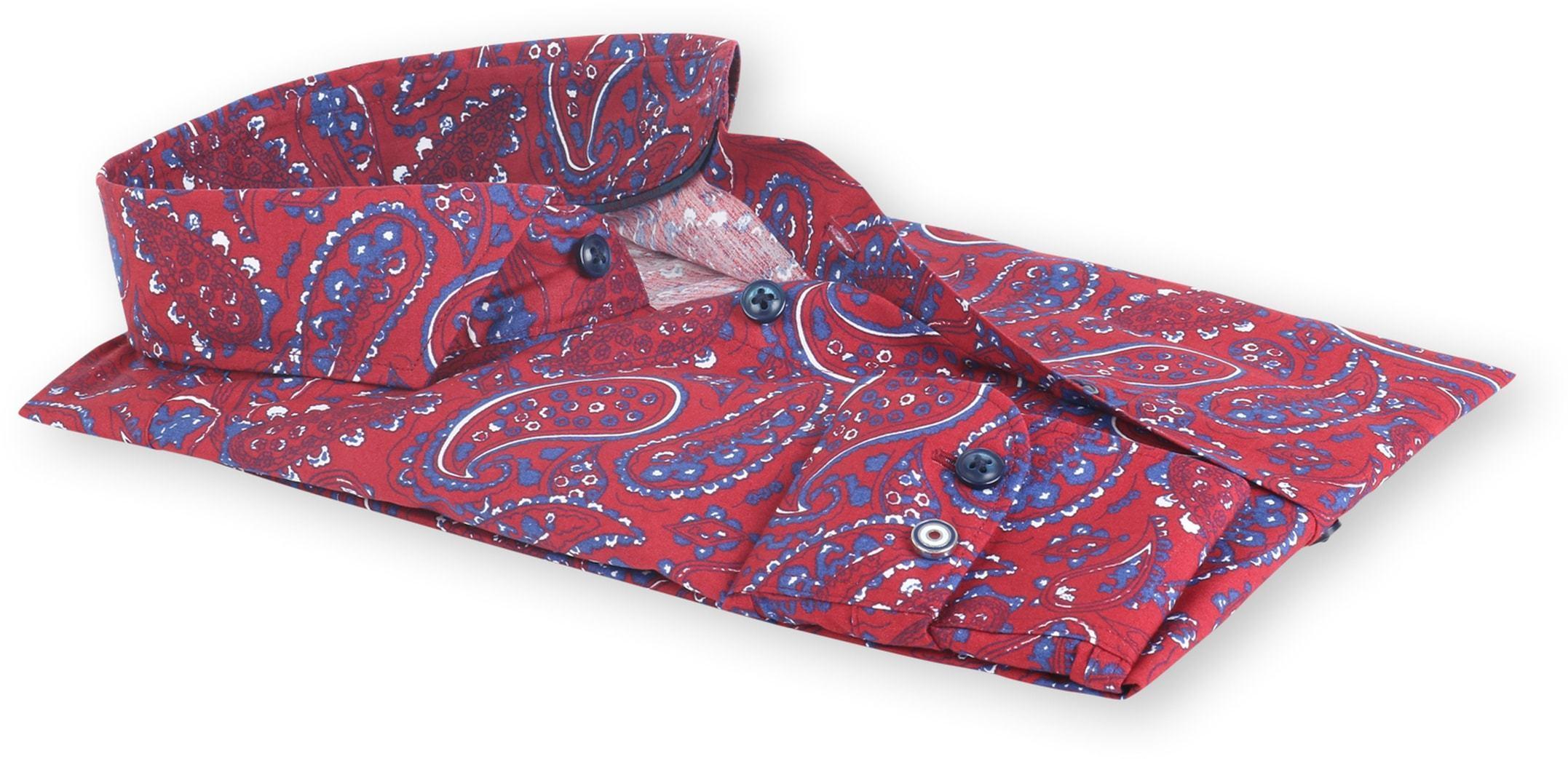 Blue Industry Shirt Bordeaux Paisley foto 2