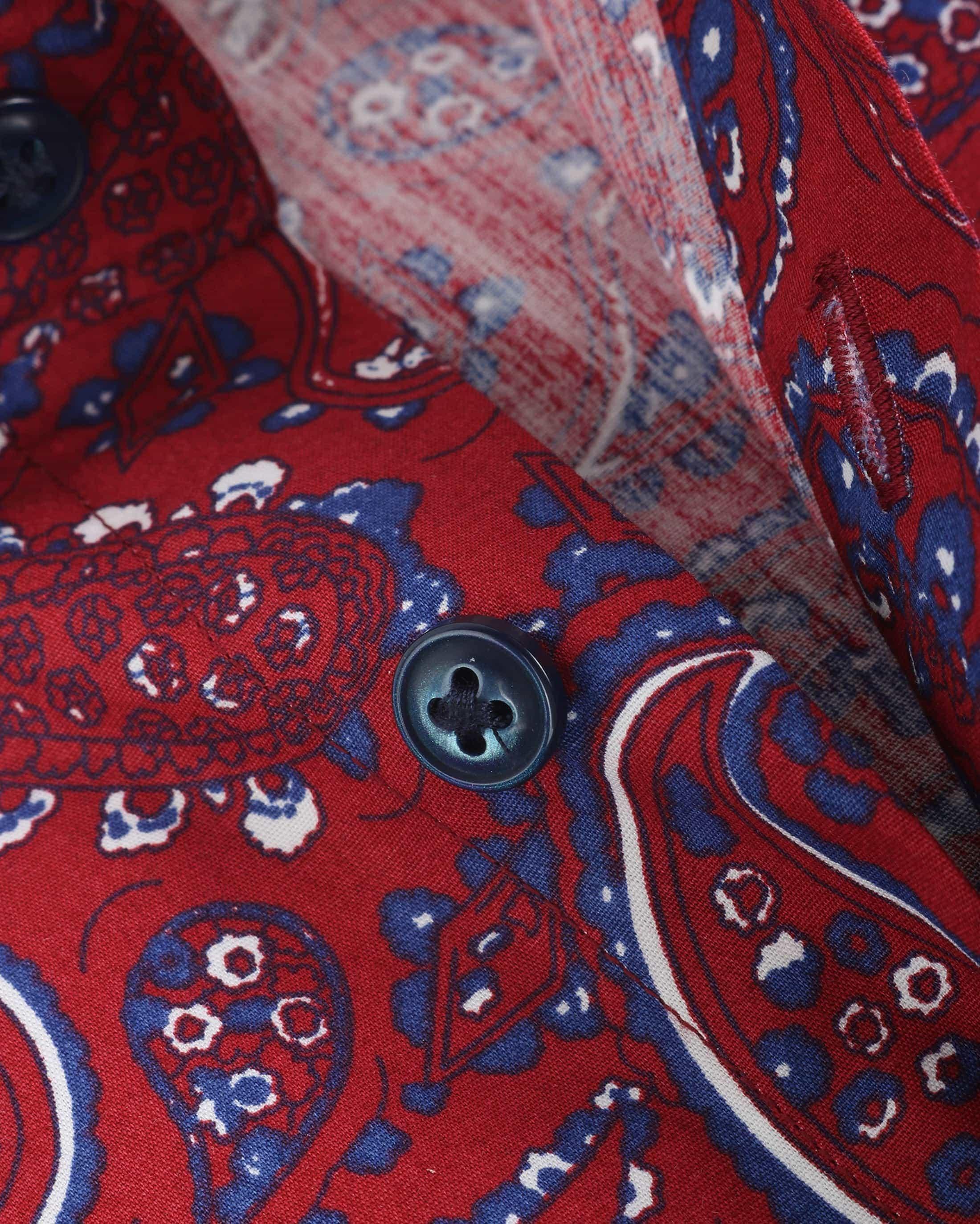 Blue Industry Shirt Bordeaux Paisley foto 3