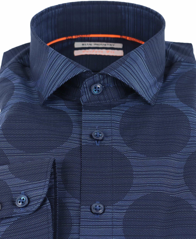 Blue Industry Shirt Donkerblauwe Cirkels foto 1