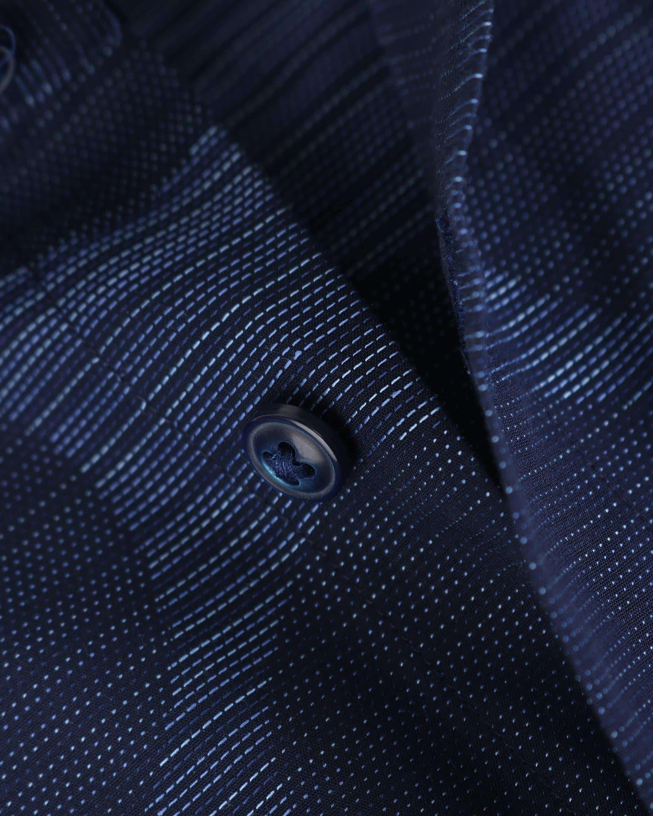 Blue Industry Shirt Donkerblauwe Cirkels foto 3