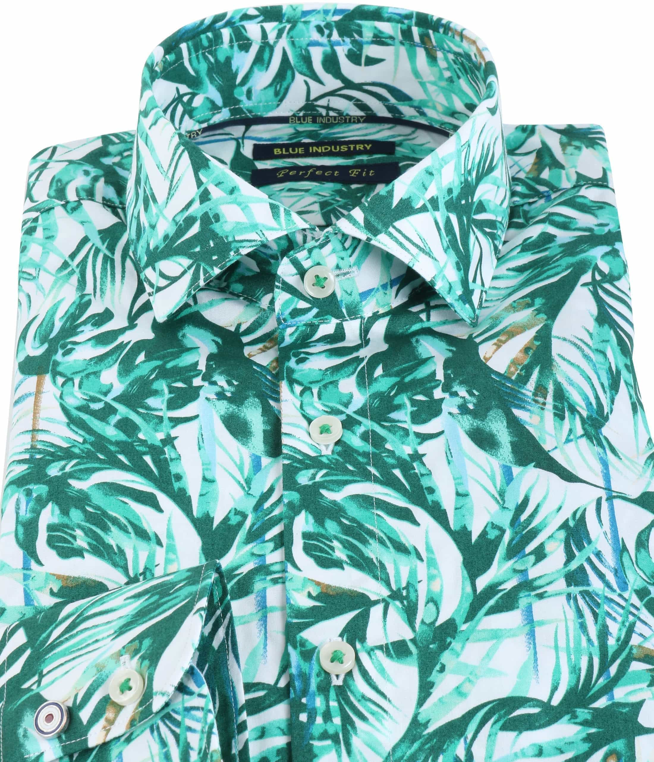 Blue Industry Shirt Floral Green foto 1