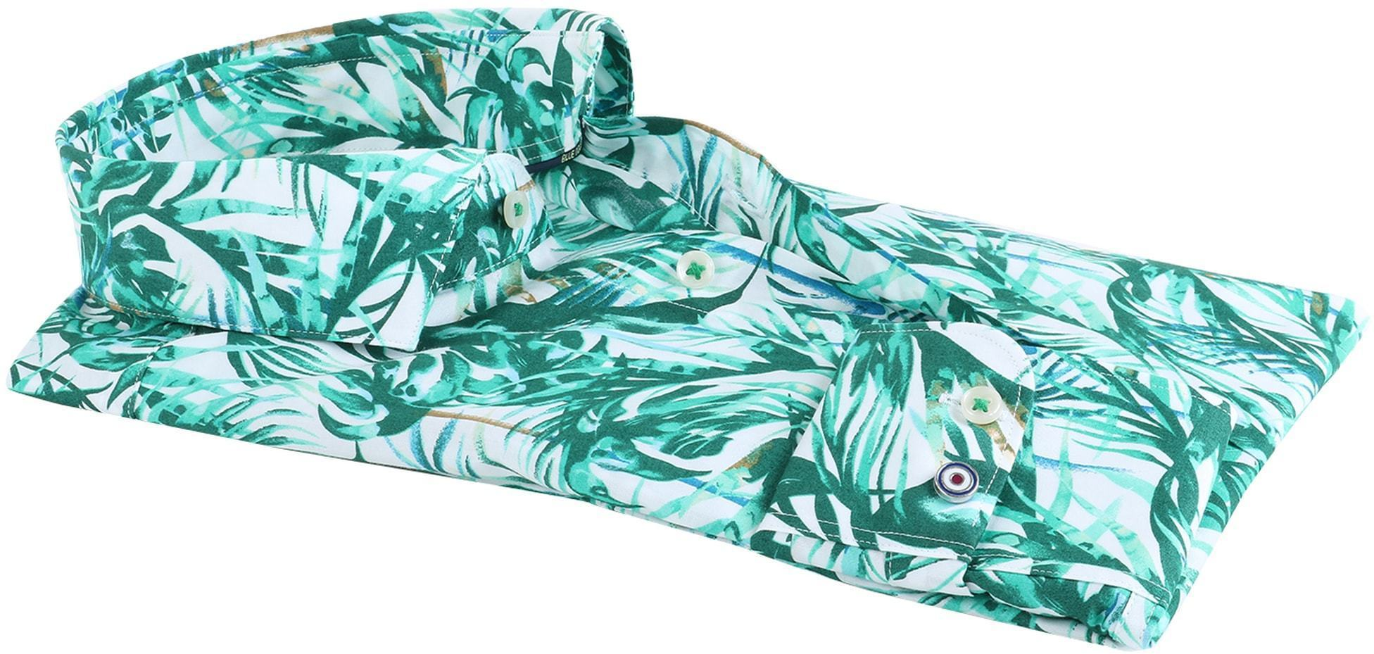 Blue Industry Shirt Floral Green foto 2
