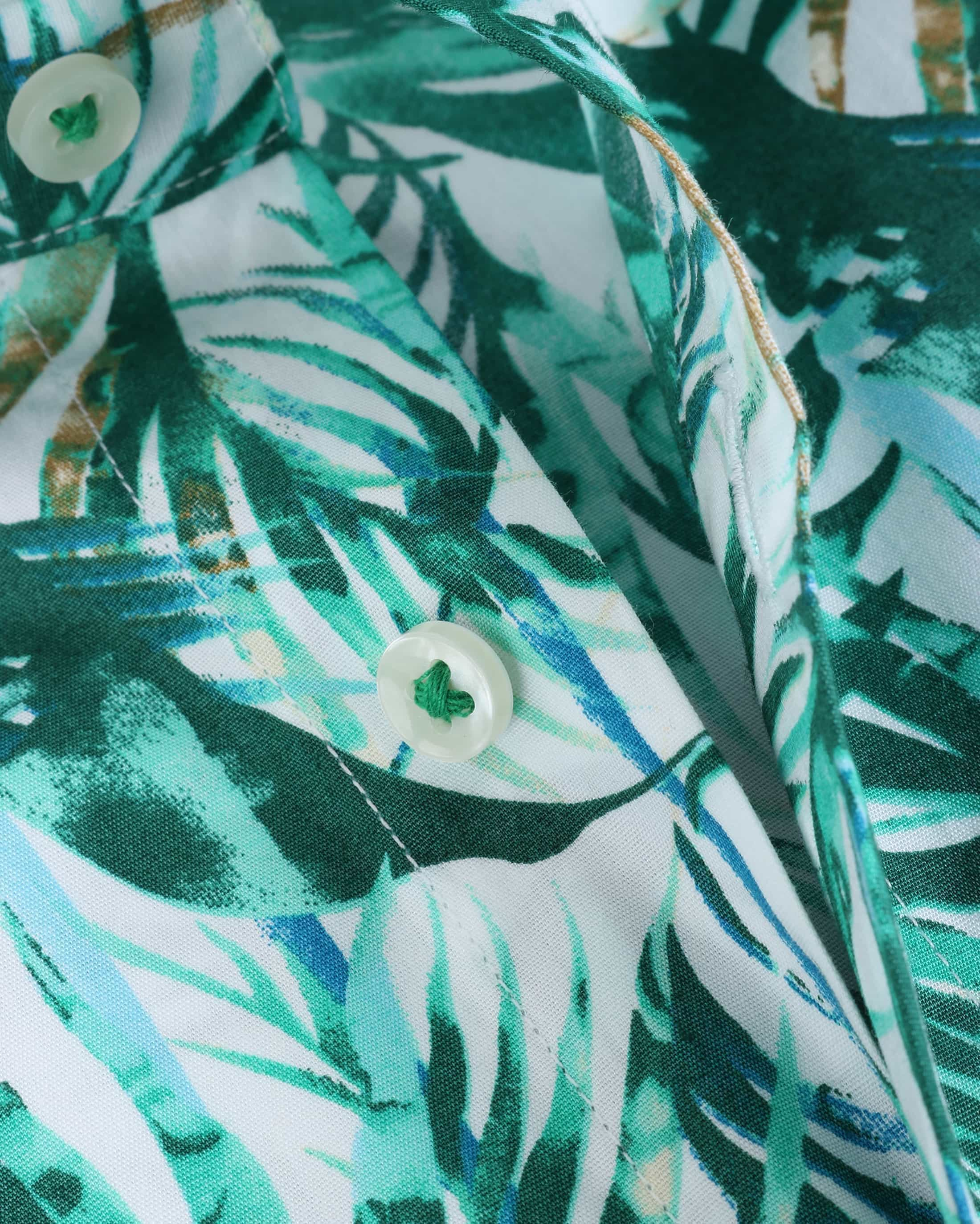 Blue Industry Shirt Floral Green foto 3