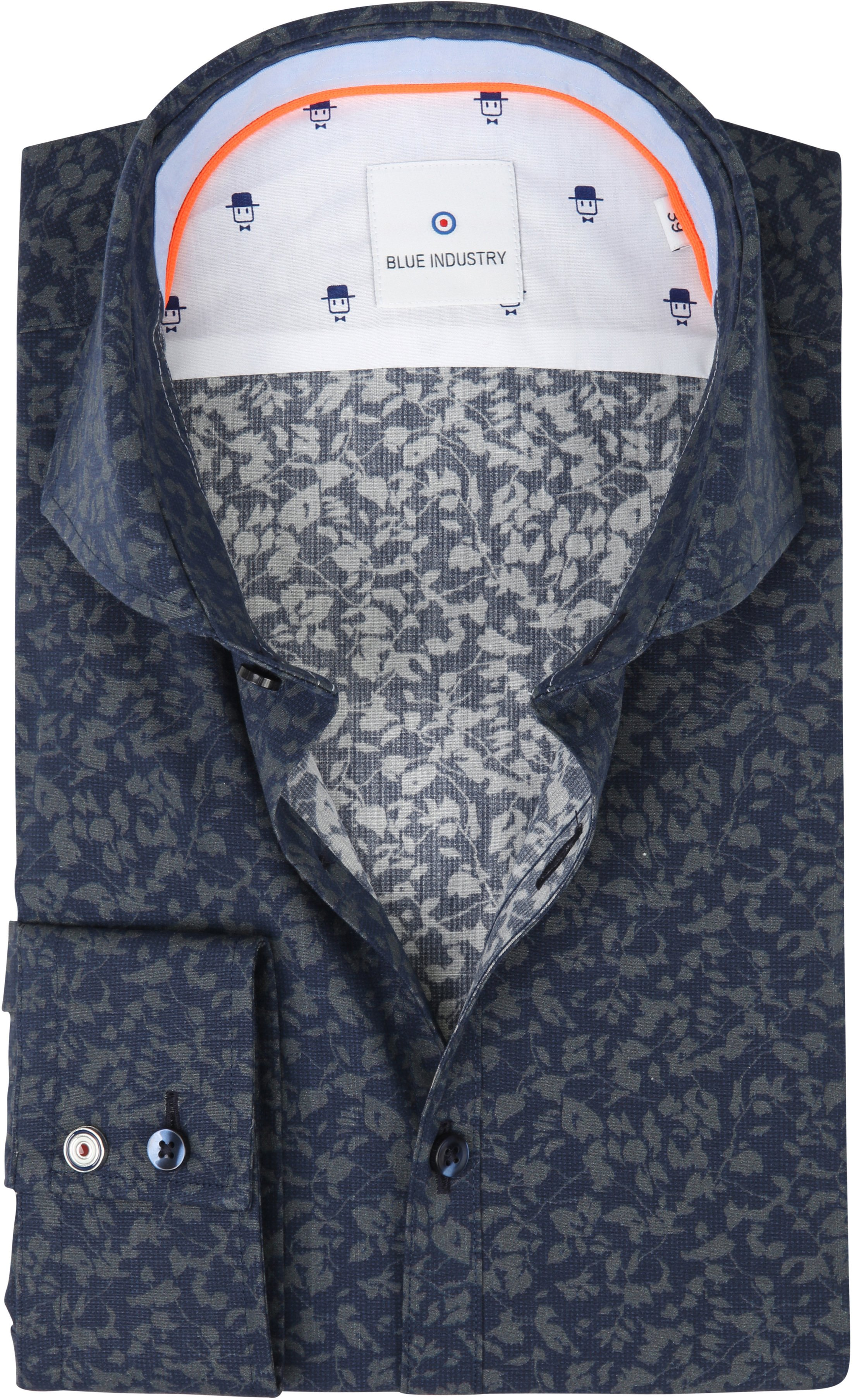 4cfbfa3ec45 Blue Industry Shirt Print Navy Green 1154.82 order online | Suitable