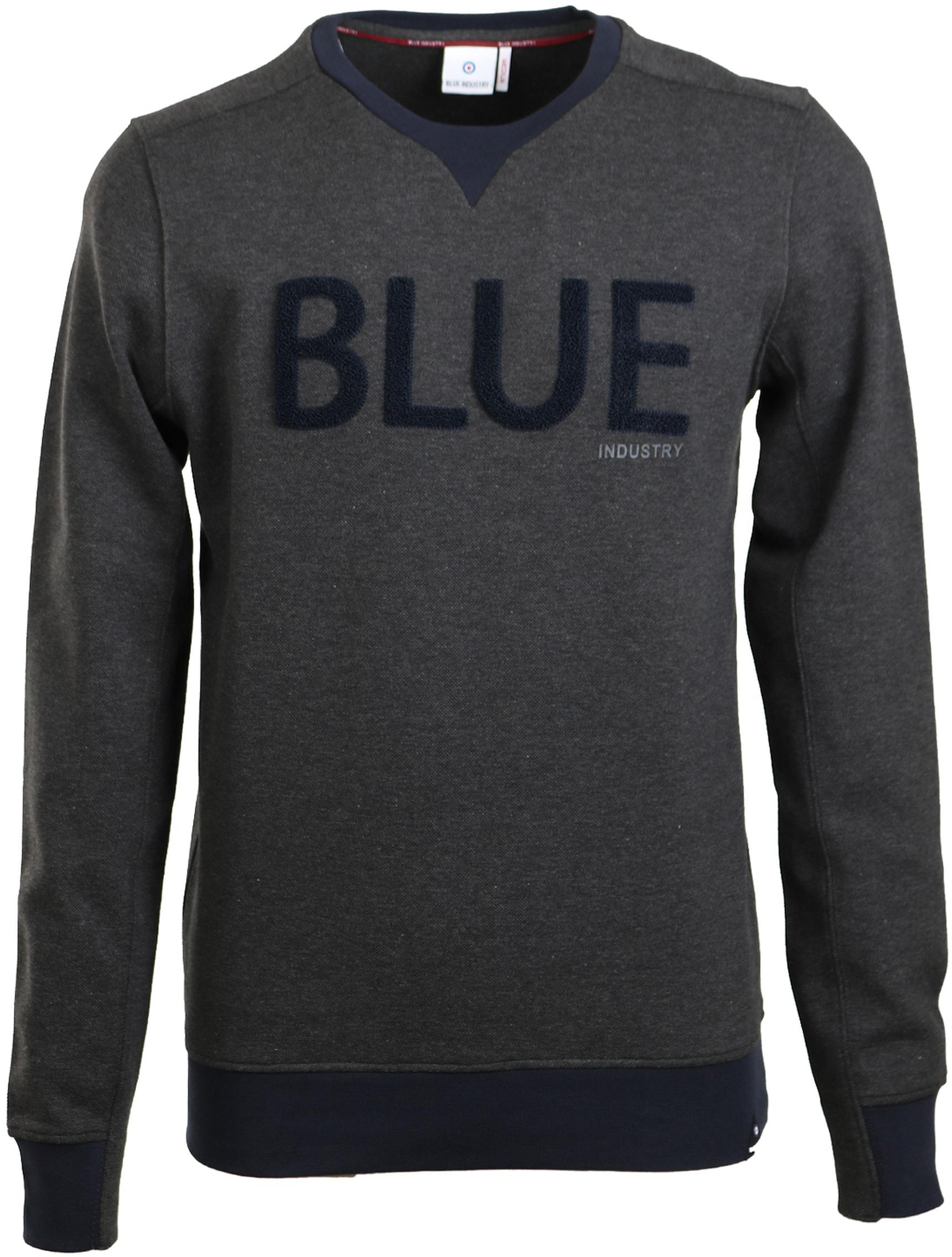 Blue Industry Sweater Donkergrijs foto 0