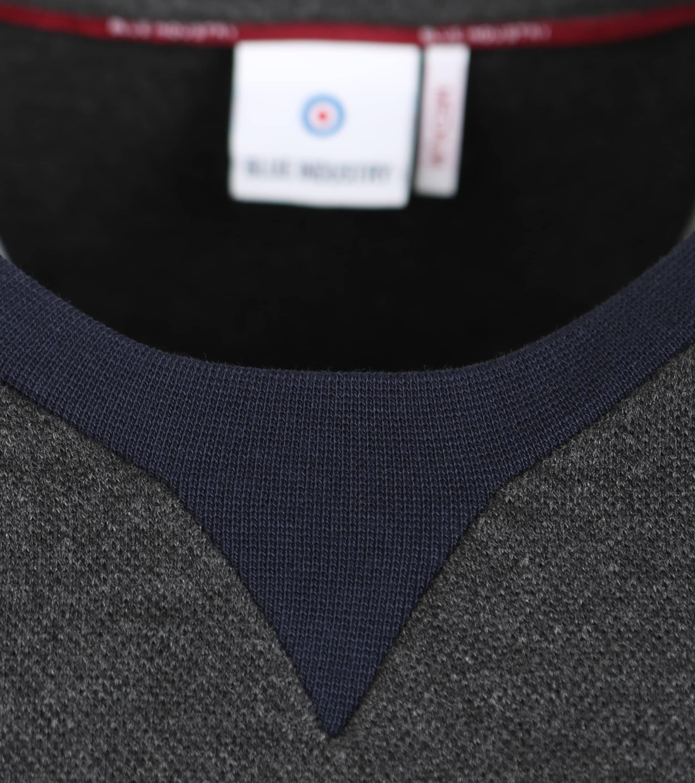 Blue Industry Sweater Donkergrijs foto 3
