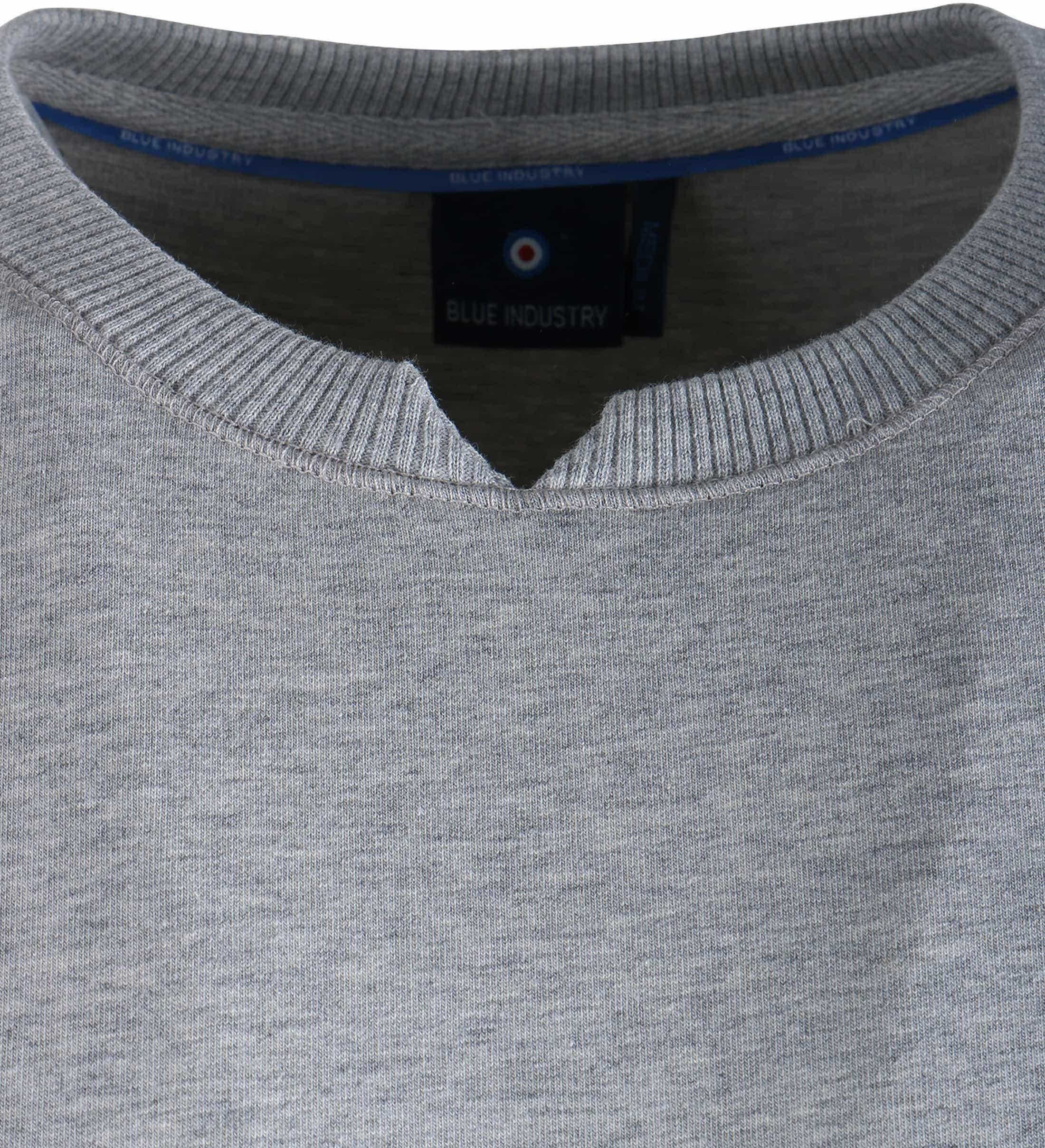 Blue Industry Sweater Grijs foto 3