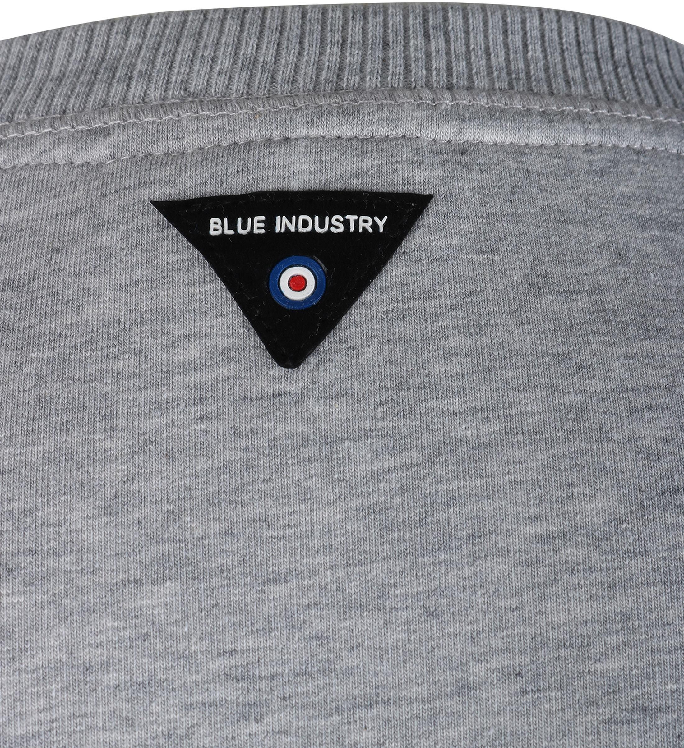 Blue Industry Sweater Grijs foto 4