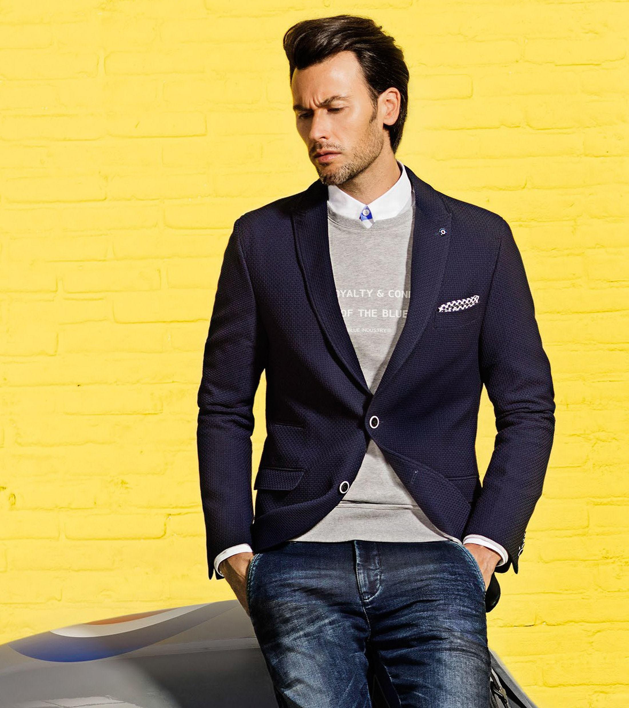 Blue Industry Sweater Grijs foto 5