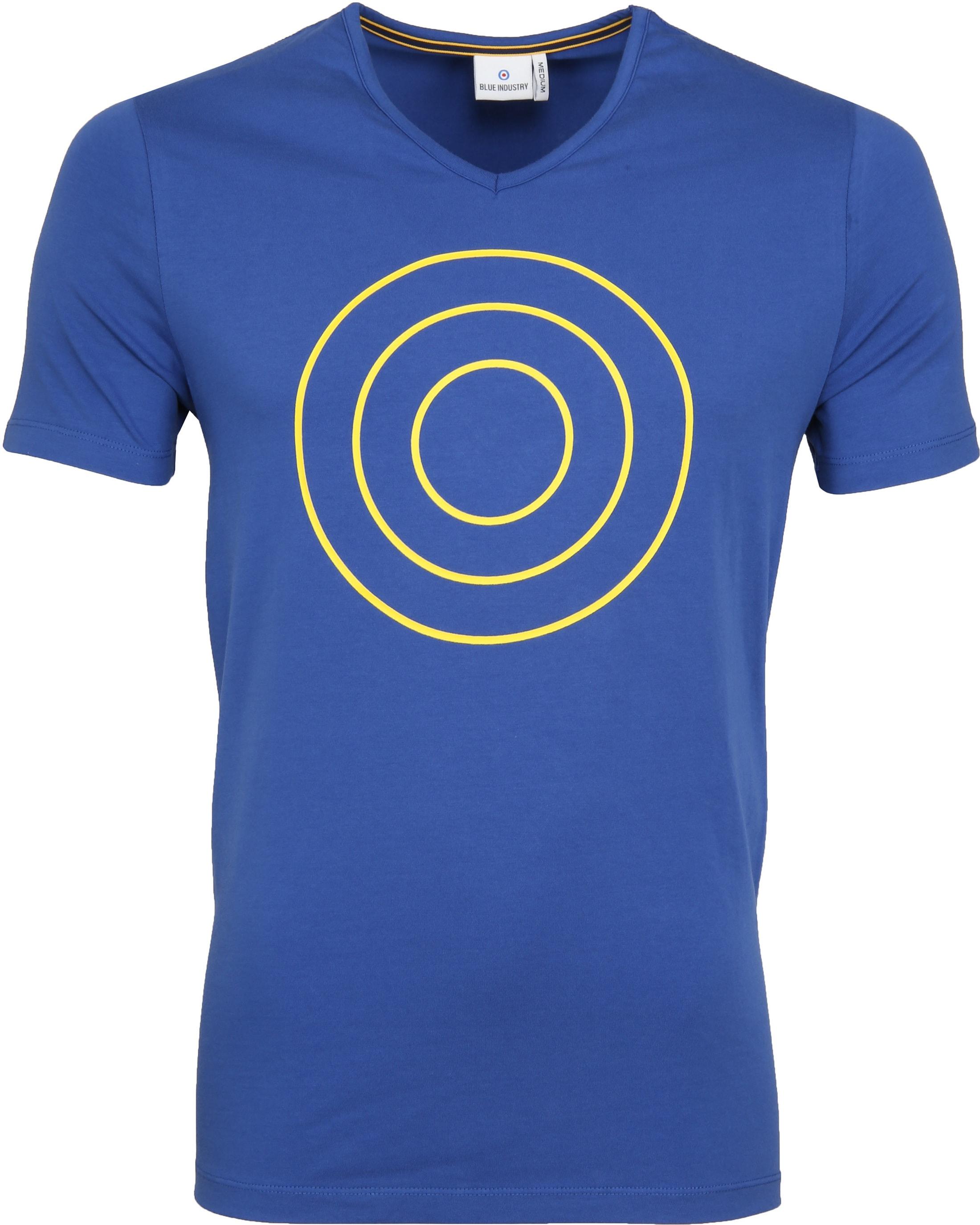 Blue Industry T-Shirt Logo Kobalt foto 0