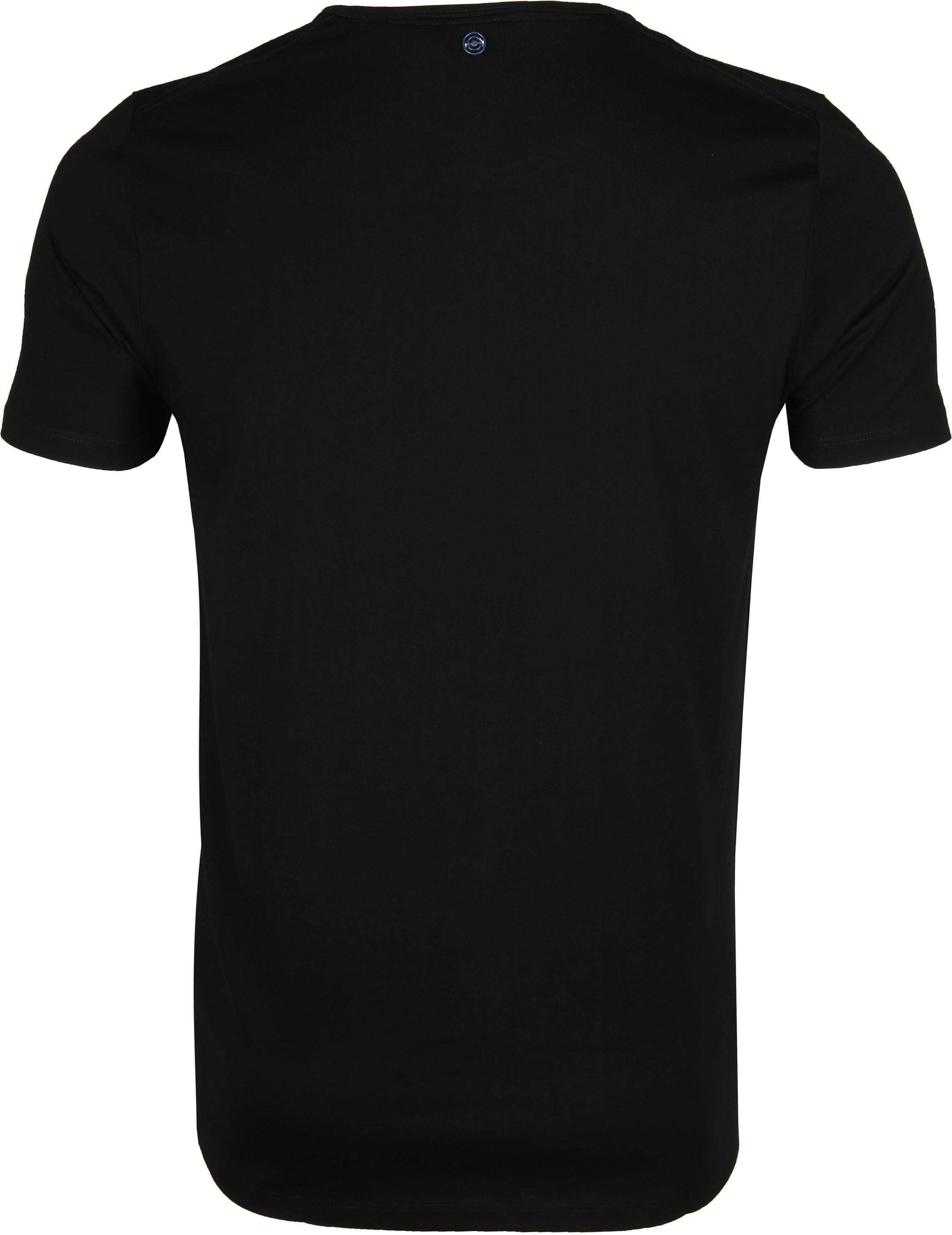 Blue Industry T-Shirt Logo Zwart